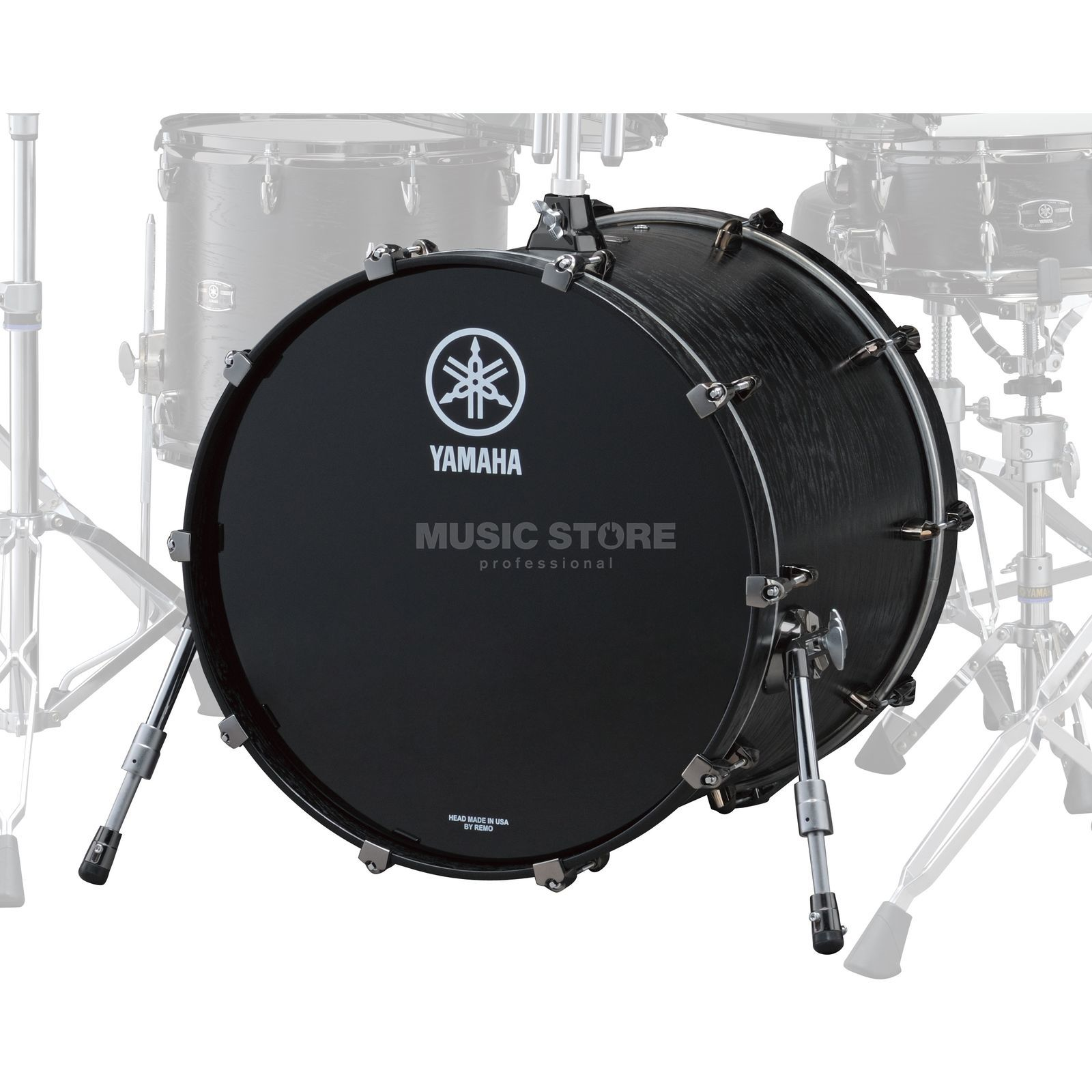 "Yamaha Live Custom BassDrum 22""x18"", Black Wood #BKW Product Image"