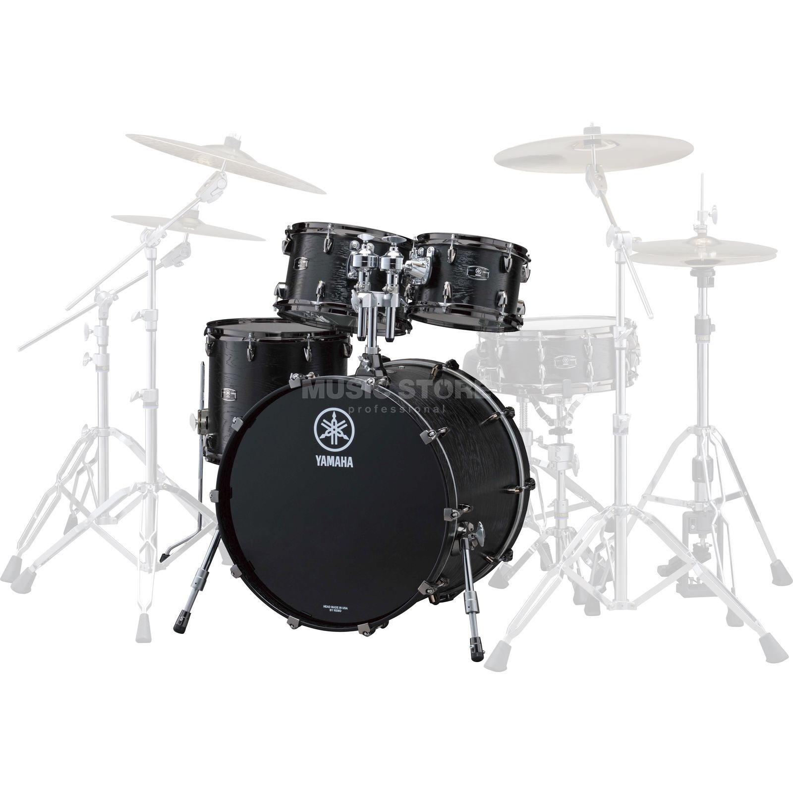 Yamaha Live Custom Shellset Jazz, Black Wood #BKW Produktbillede