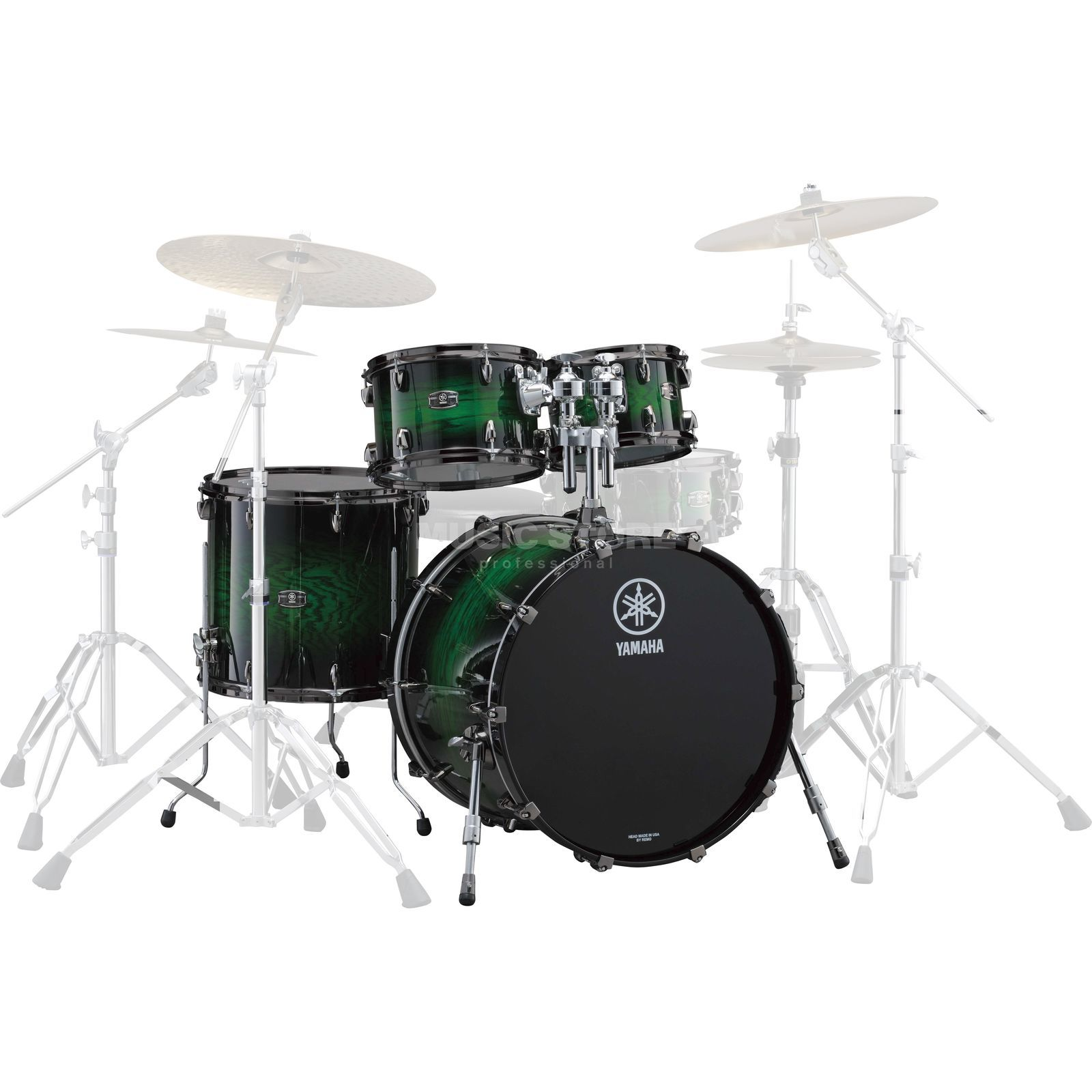 Yamaha Live Custom Shellset Studio, Emerald Shadow Sunburst #EWS Εικόνα προιόντος