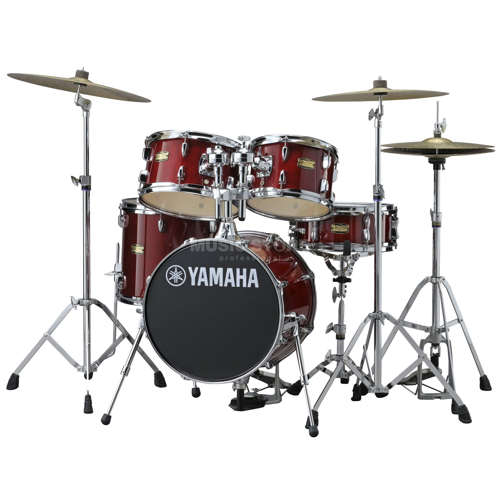 Yamaha Manu Katché Junior Kit JK6F5, incl. HW, Cranberry Red Produktbild