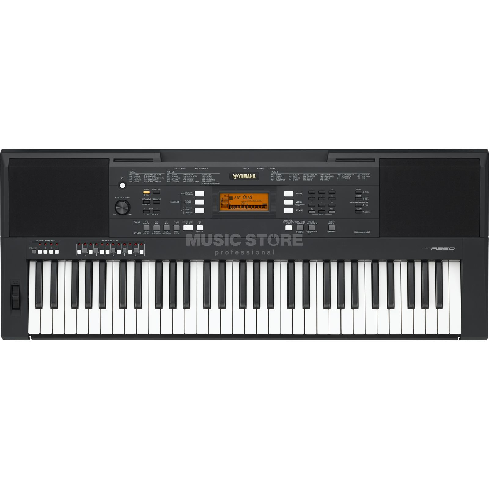 yamaha psr a350 oriental keyboard dv247. Black Bedroom Furniture Sets. Home Design Ideas