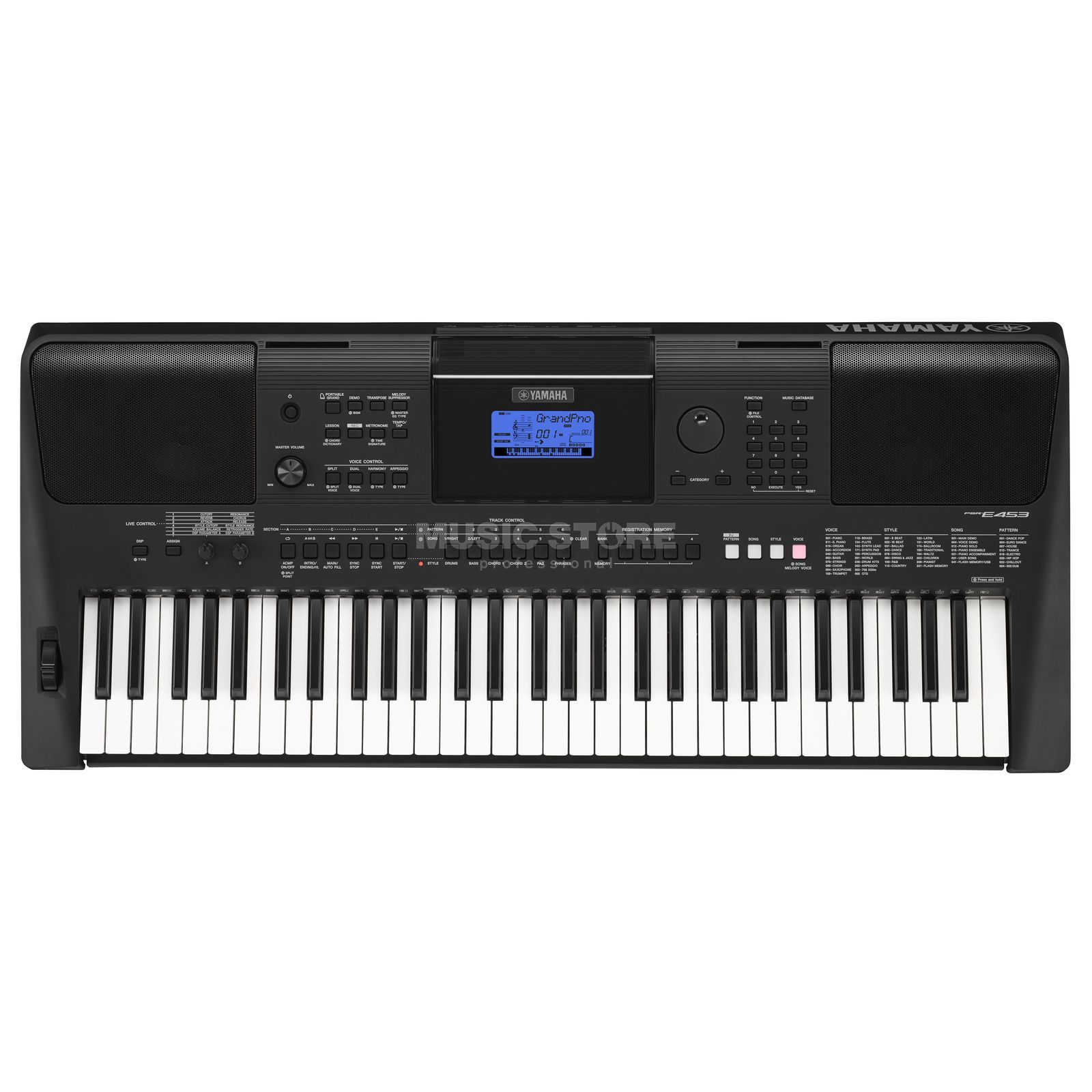 Yamaha psr e453 digital keyboard for Www yamaha keyboards