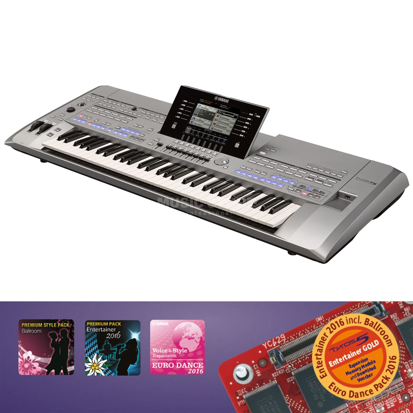 Yamaha Tyros 5 61 Entertainer Gold Product Image