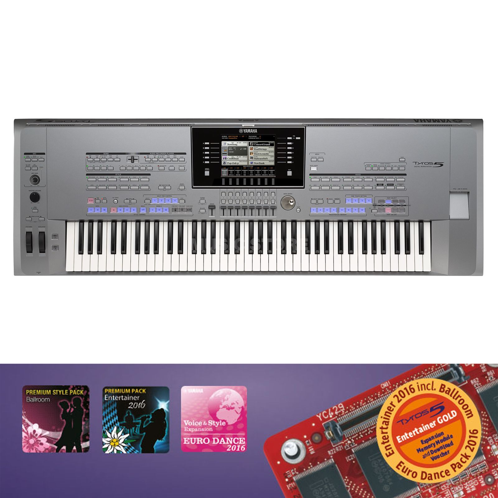 Yamaha Tyros 5 76 Entertainer Gold Product Image