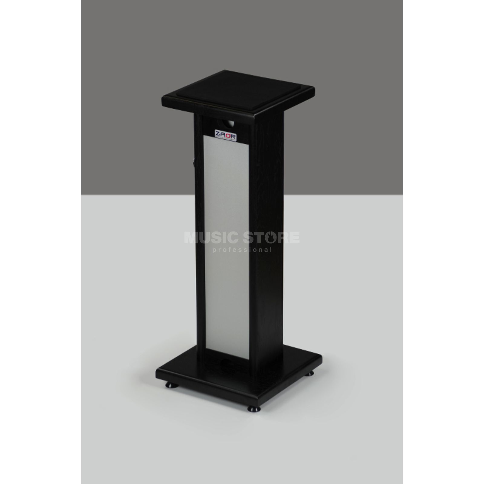 zaor stand monitor black pied pour enceinte noir. Black Bedroom Furniture Sets. Home Design Ideas