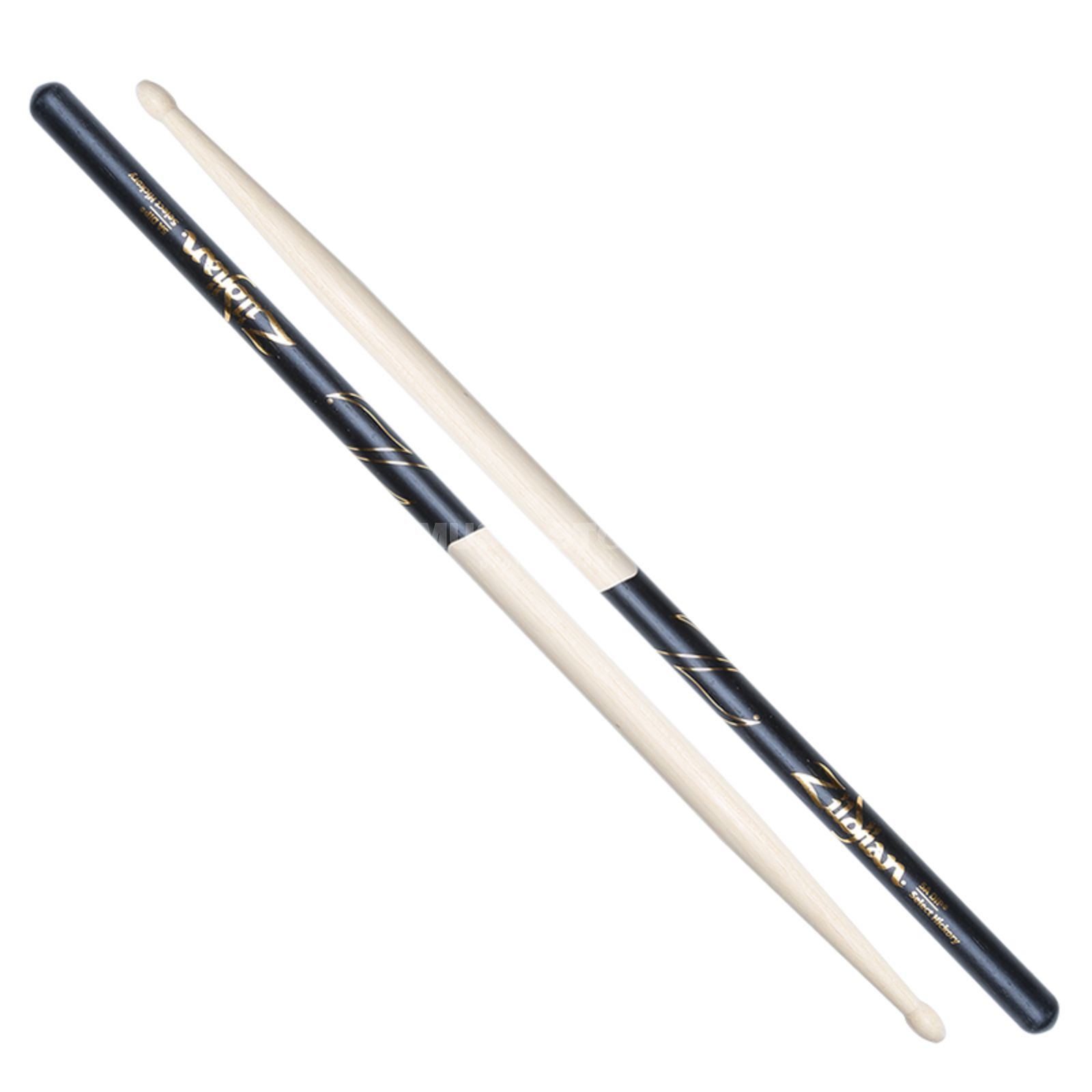 Zildjian 5A Hickory Sticks, Black-DIP Natural Finish, Wood Tip Produktbild
