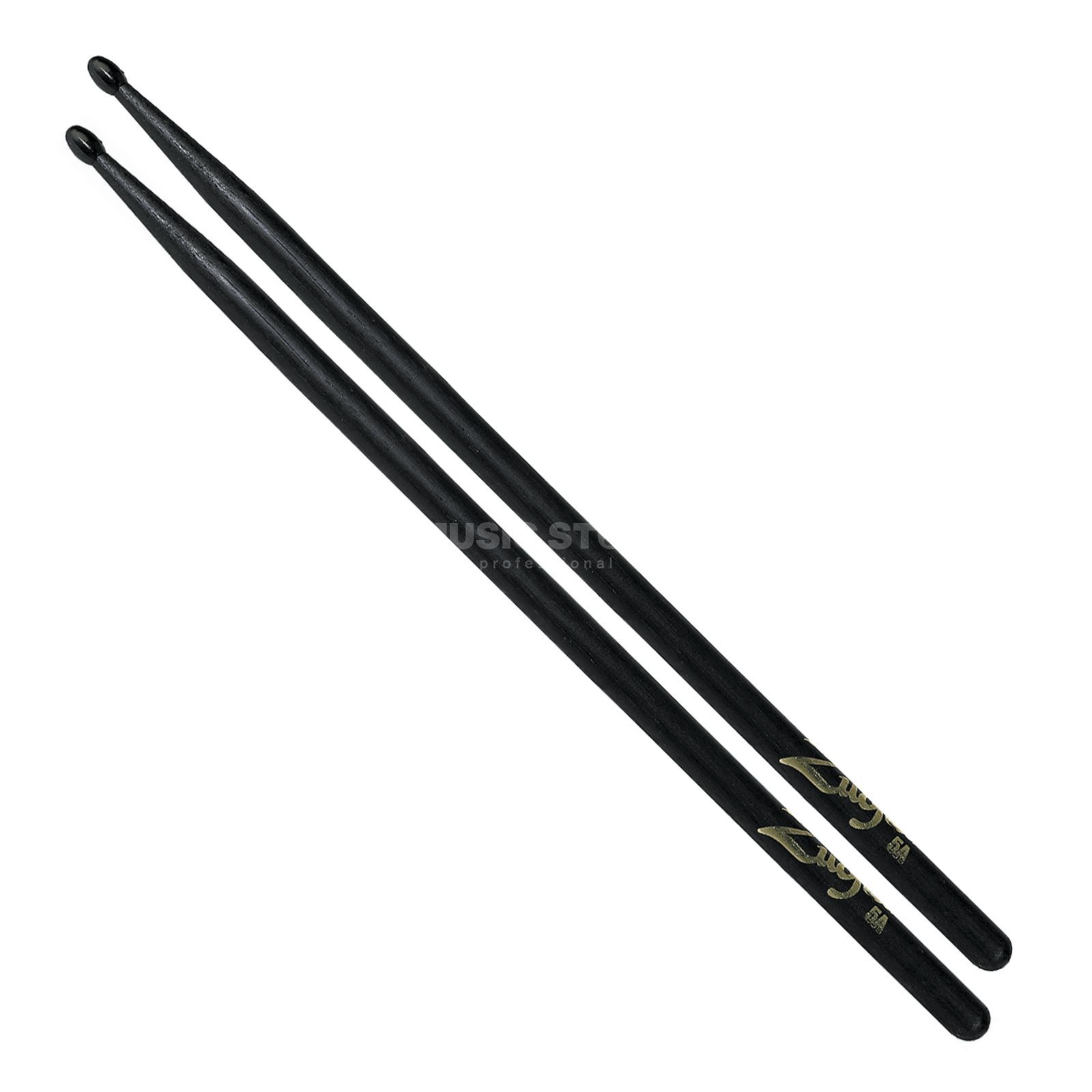 Zildjian 5AN Hickory Sticks, Black Black Finish, Nylon Tip Product Image