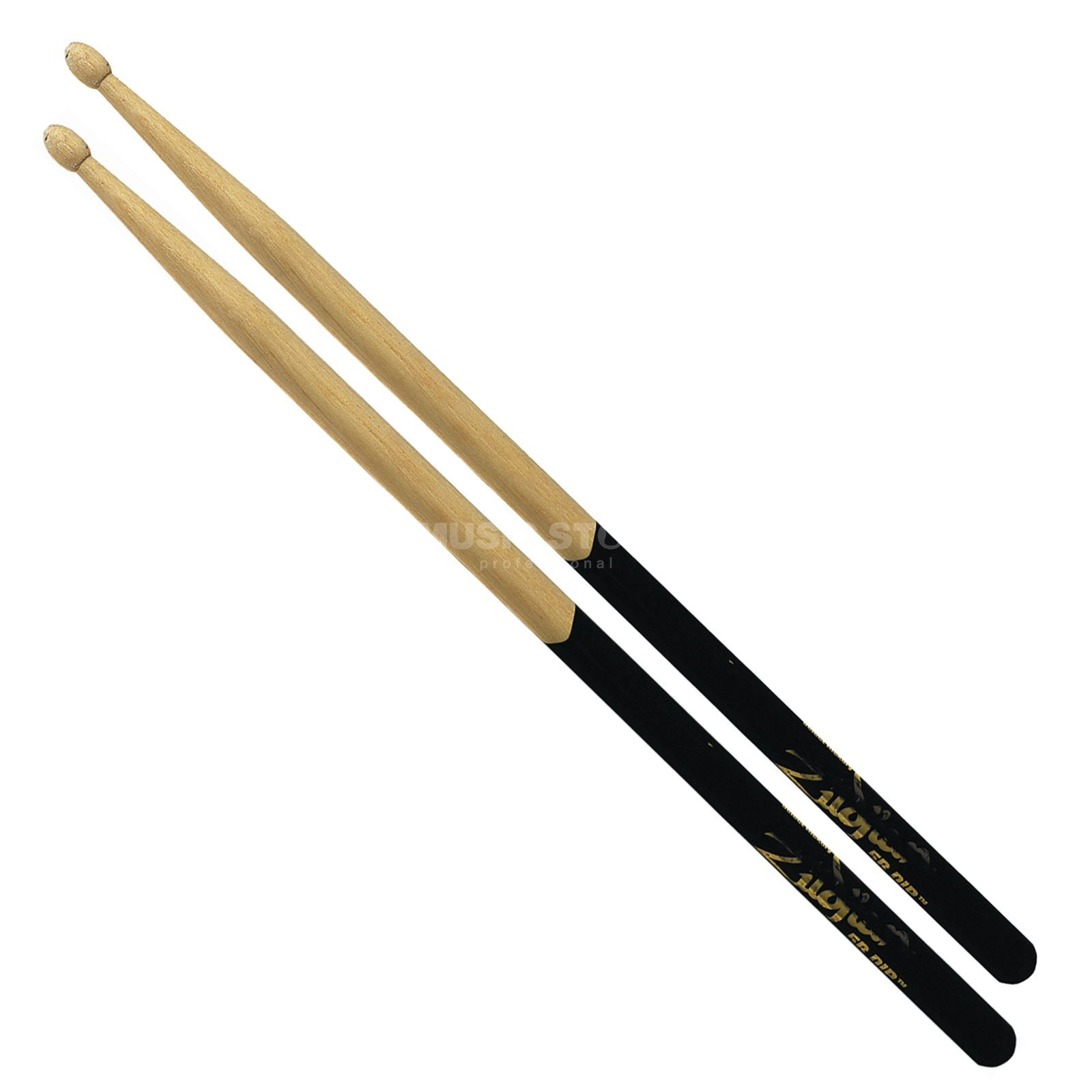 Zildjian 7A Sticks Black-DIP, Wood Tip Hickory, Natural Finish Produktbild