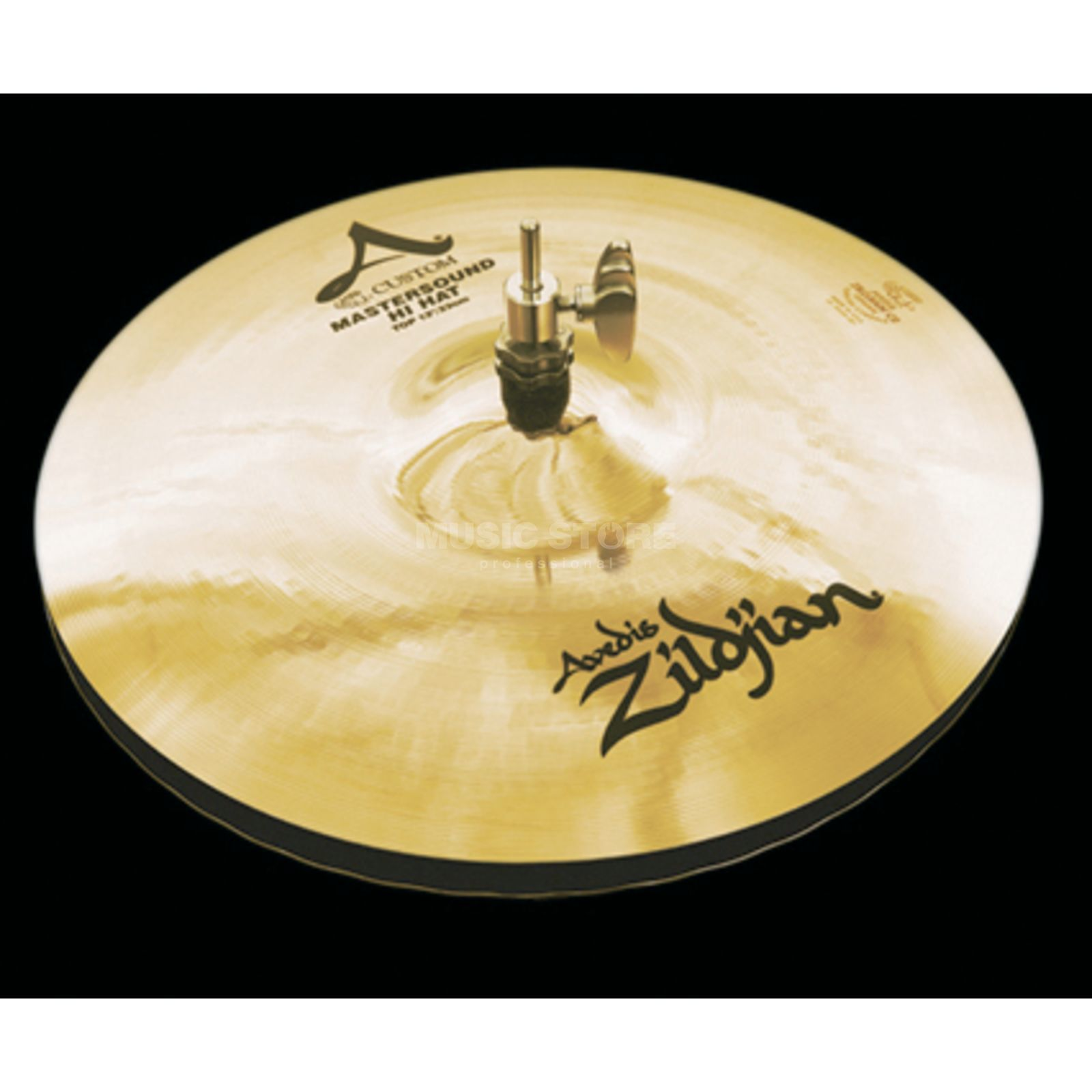 "Zildjian A-Custom Mastersound HiHat 13"" Brilliant Finish Produktbillede"