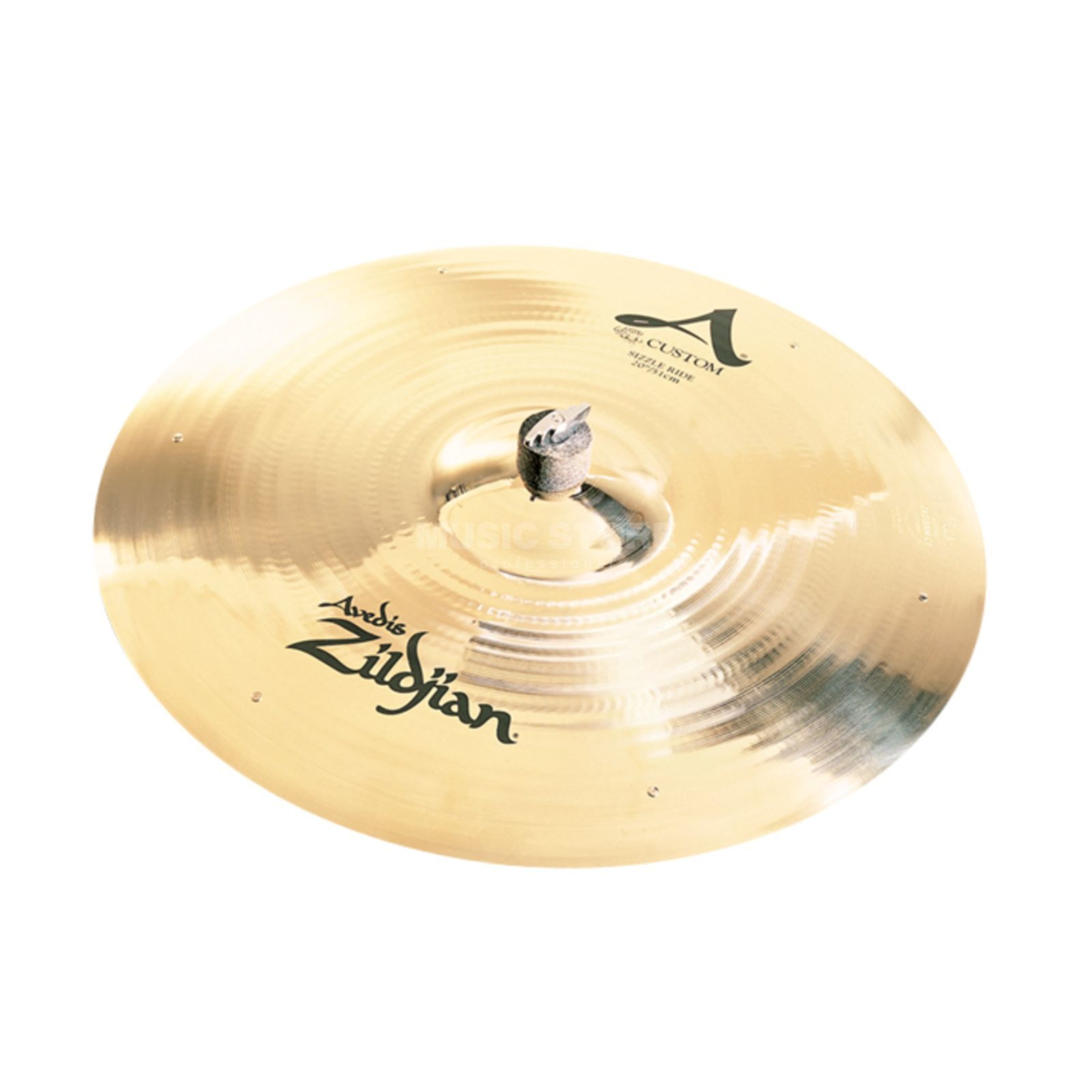 "Zildjian A-Custom MediumSizzle Ride 20"" Brilliant Finish Productafbeelding"