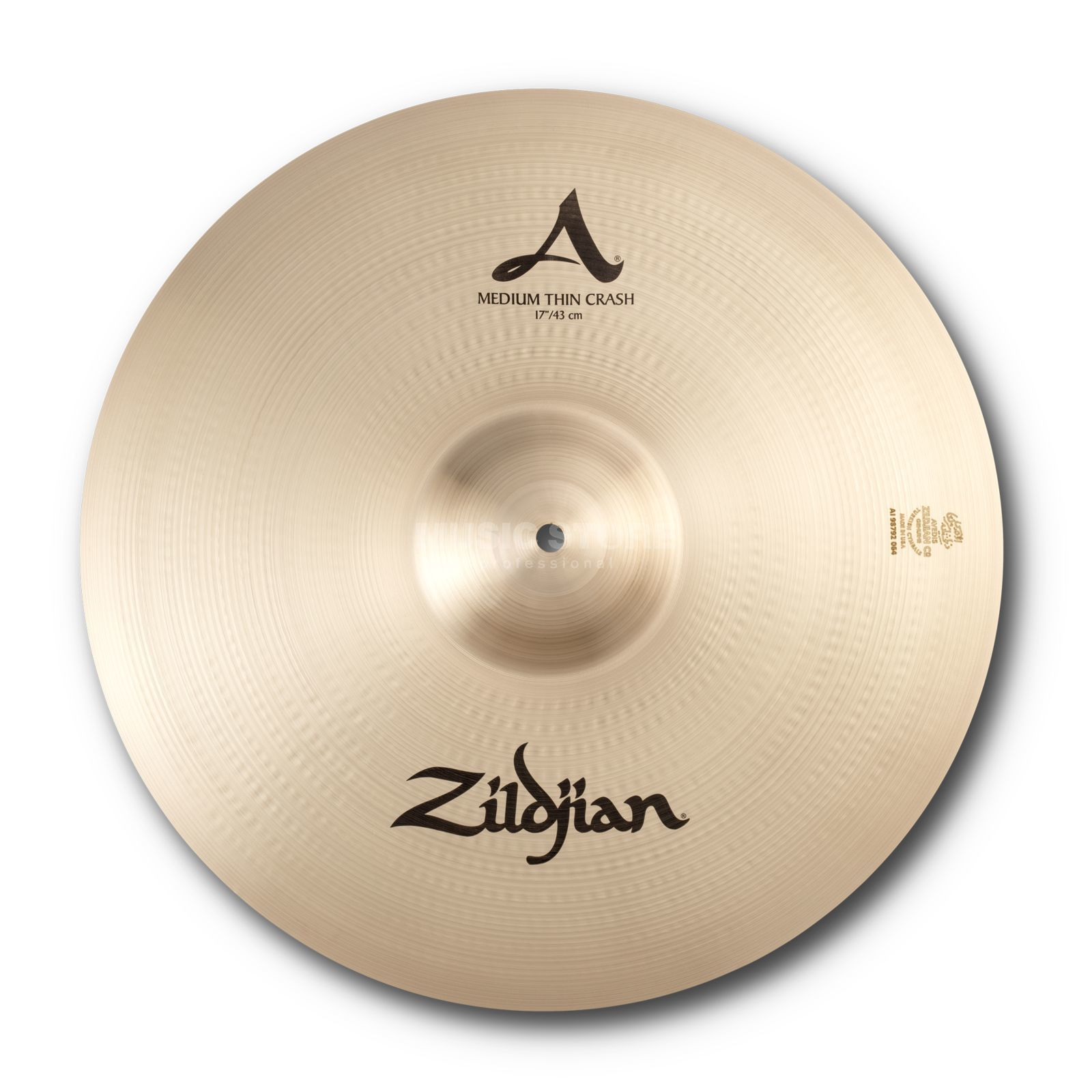 "Zildjian A' Zildjian Med/Thin Crash 17"", Traditional Finish Productafbeelding"