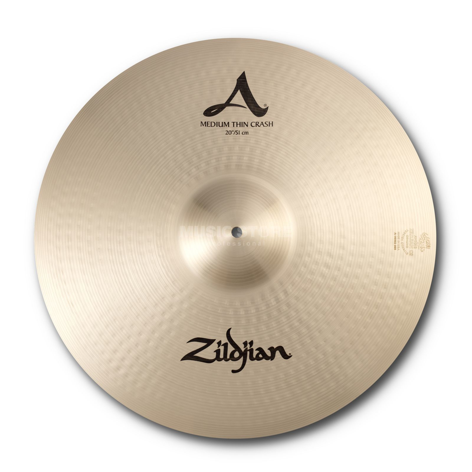 "Zildjian A' Zildjian Med/Thin Crash 20"" Traditional Finish Produktbillede"