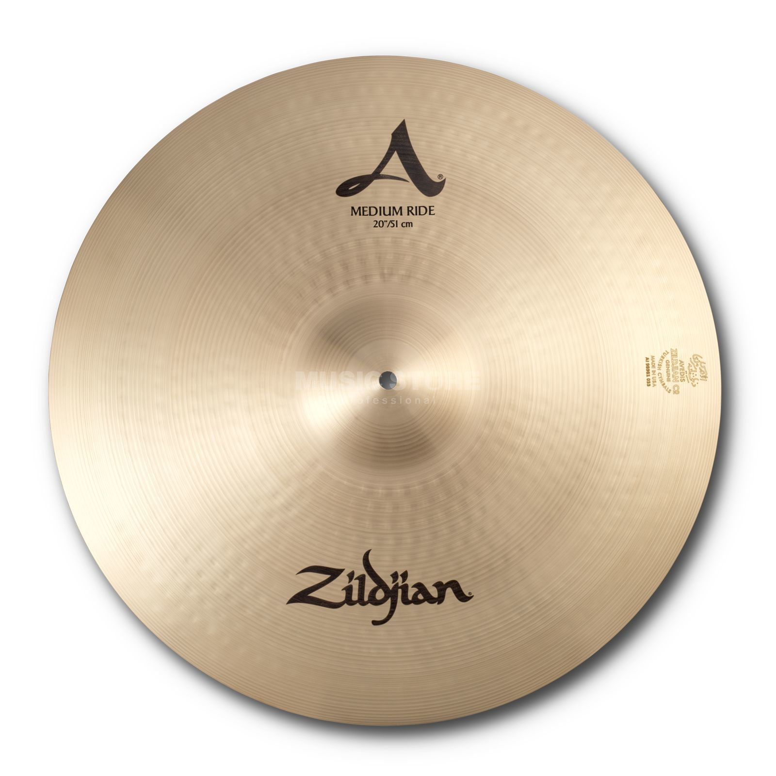 "Zildjian A' Zildjian Medium Ride 20"", Traditional Finish Productafbeelding"