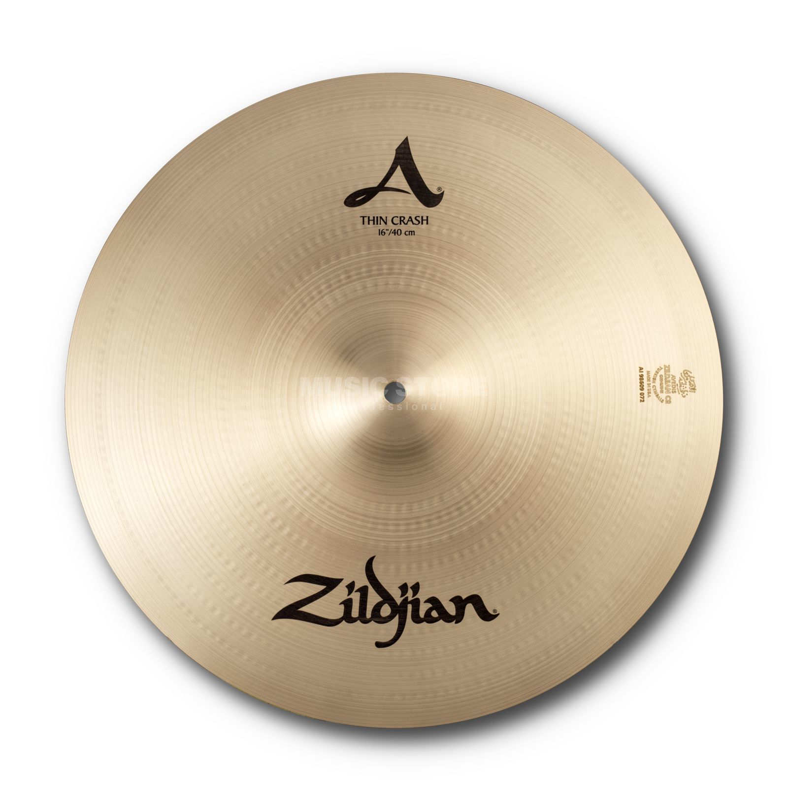 "Zildjian A' Zildjian Thin Crash 16"", Traditional Finish Productafbeelding"