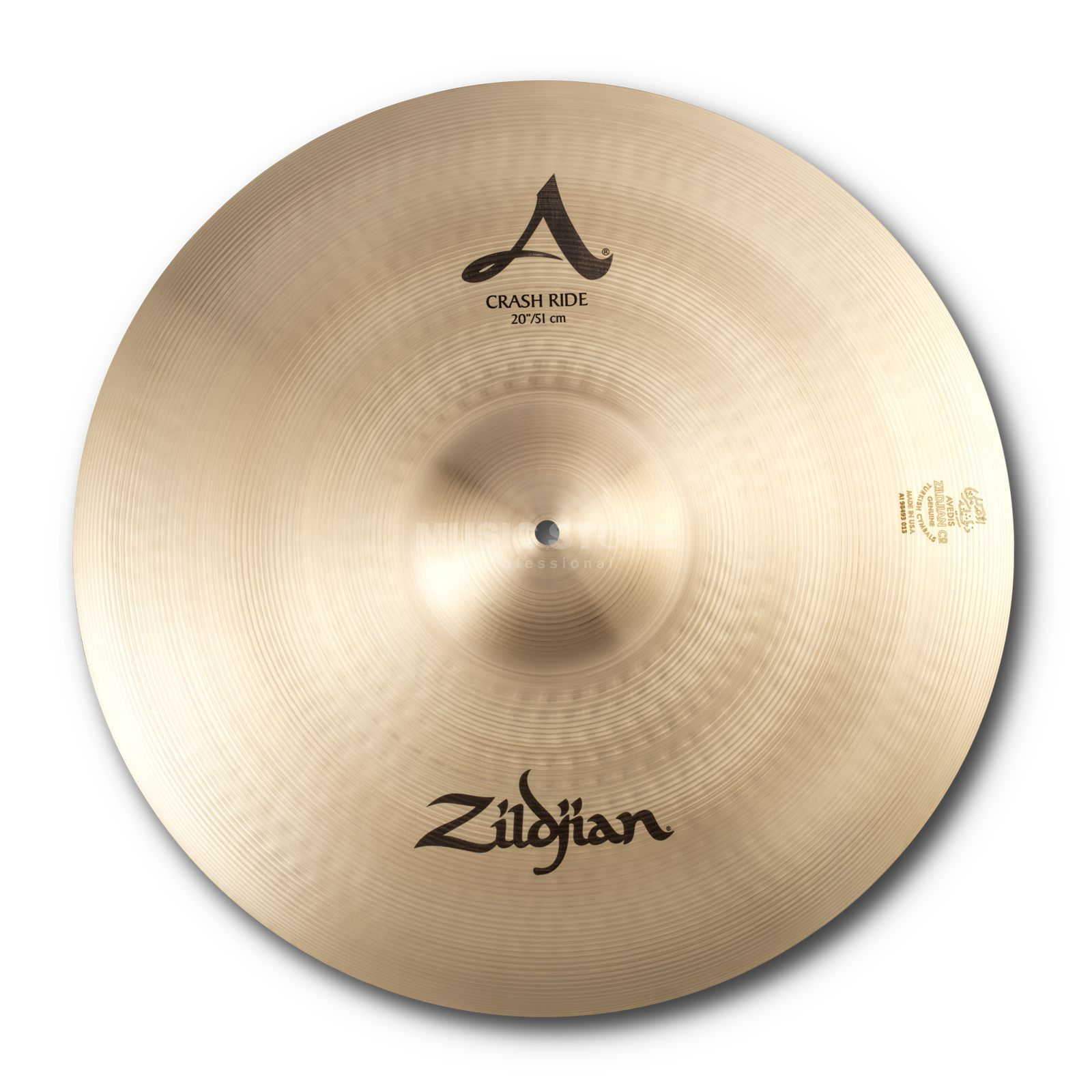 "Zildjian Avedis Crash Ride 20"", Traditional Finish Produktbillede"