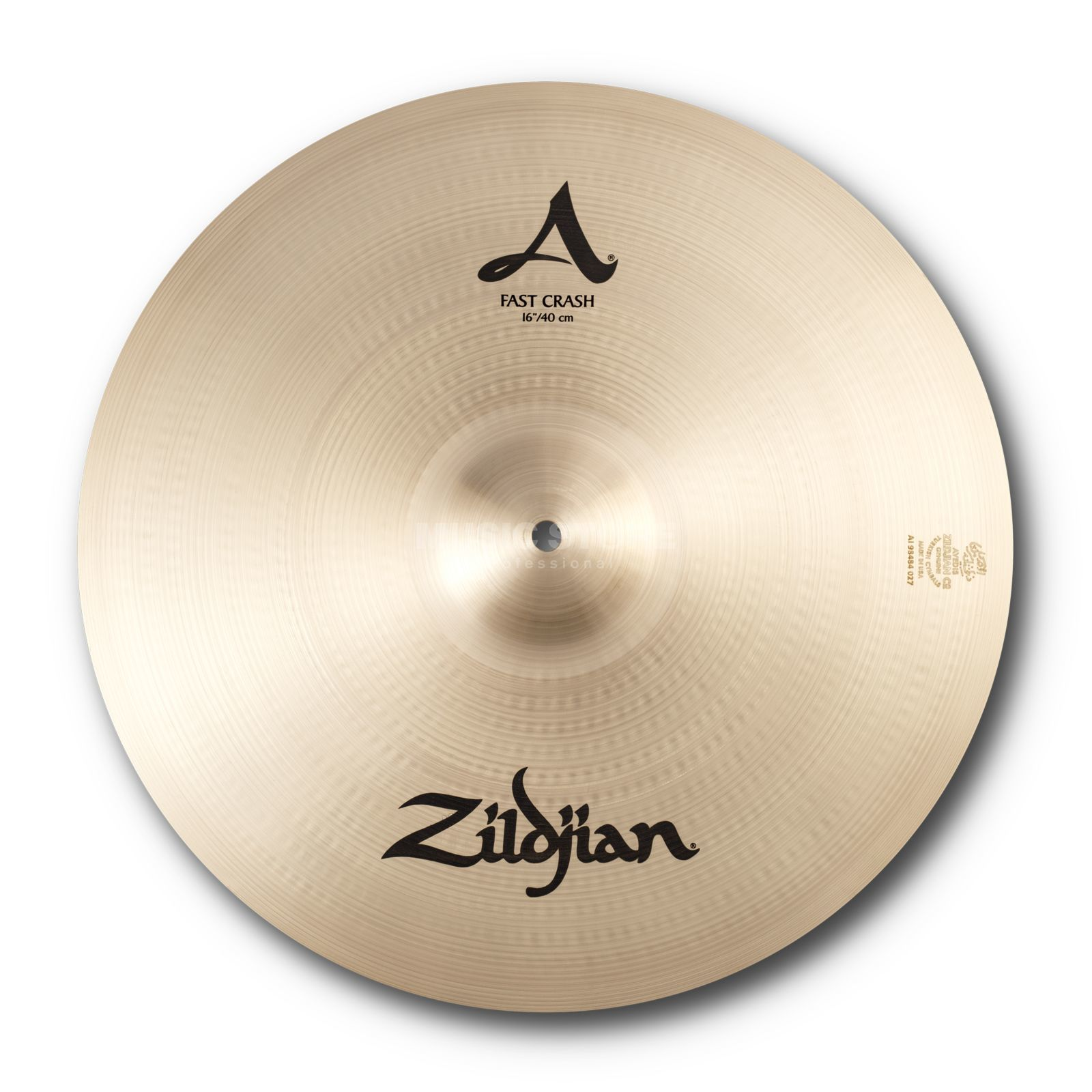 "Zildjian Avedis Fast Crash 16"", Traditional Finish Product Image"