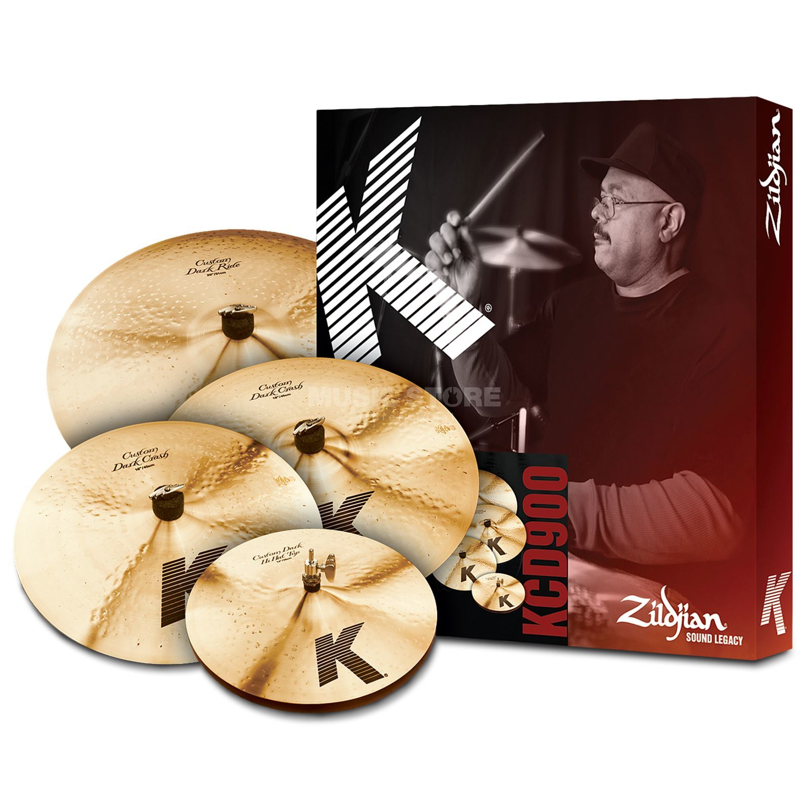 "Zildjian K' Custom Dark Set KCD900, 14""HH, 16"" Cr, 20""R + 18Cr Product Image"