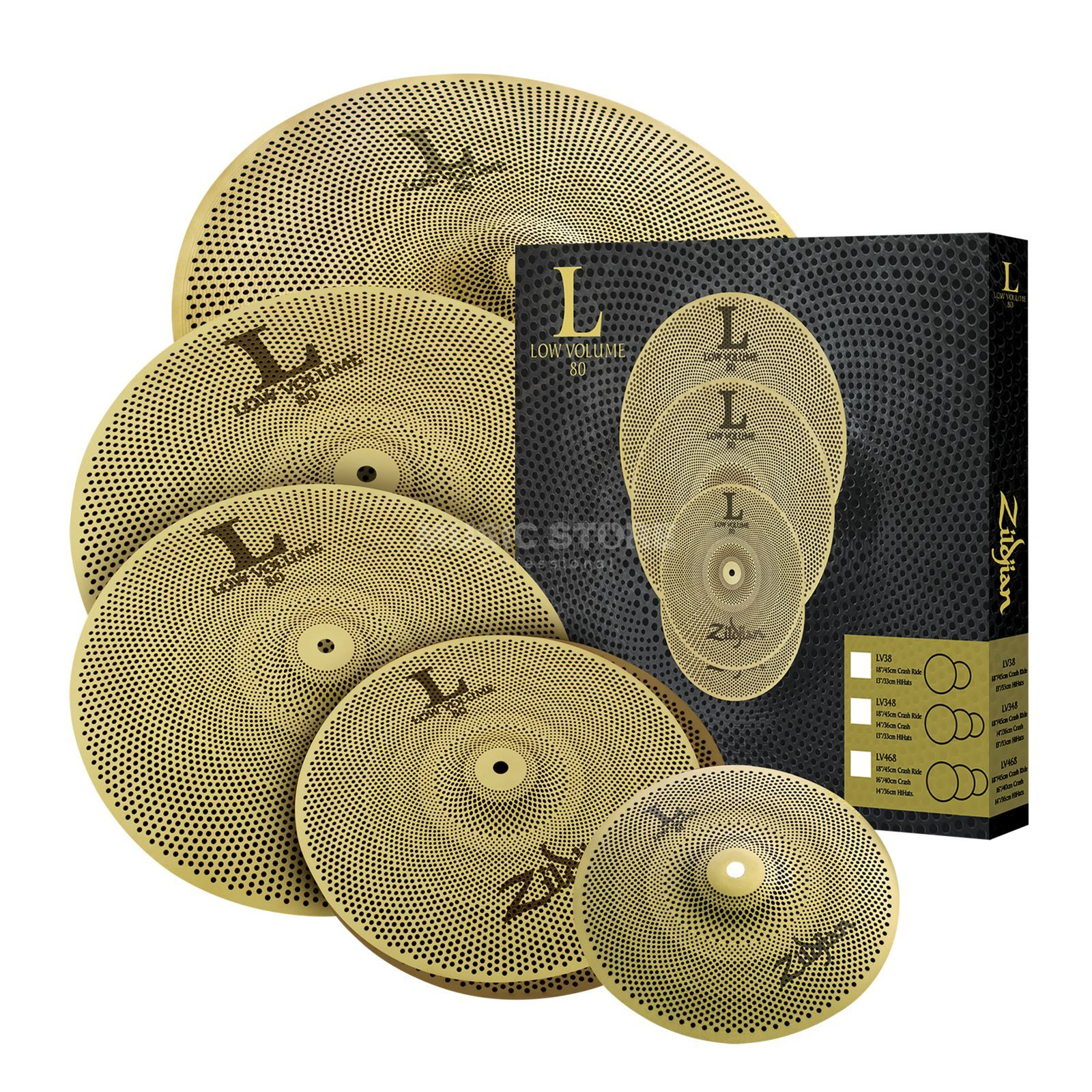 Zildjian L80 Low Volume LV468 Full Pack Product Image