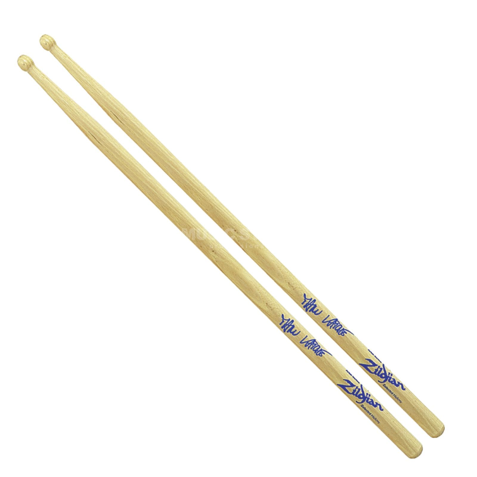 Zildjian Manu Katche Hickory Sticks Natural Finish, Wood Tip Product Image