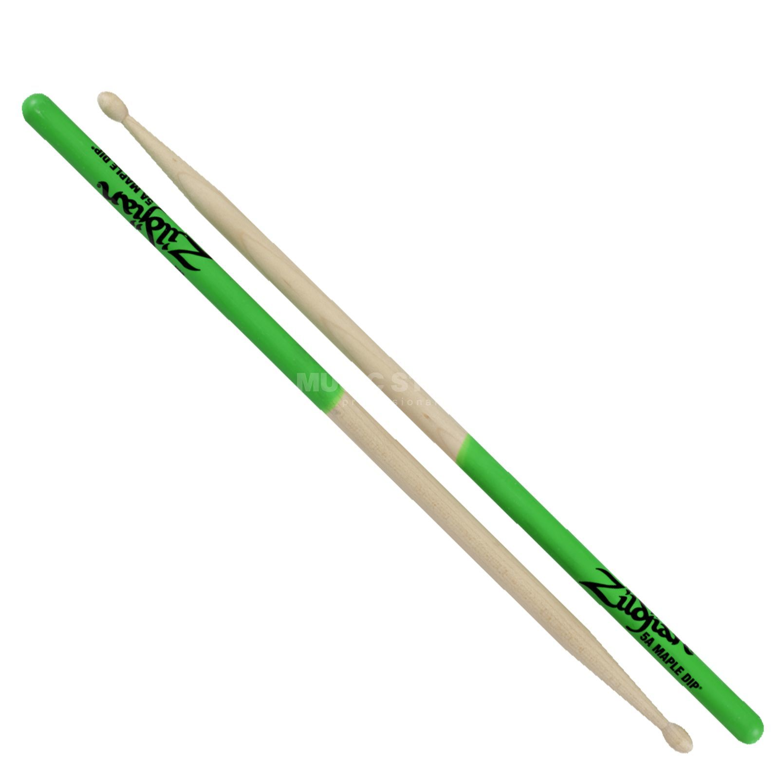 Zildjian Maple Sticks Green Dip, 5A Produktbillede
