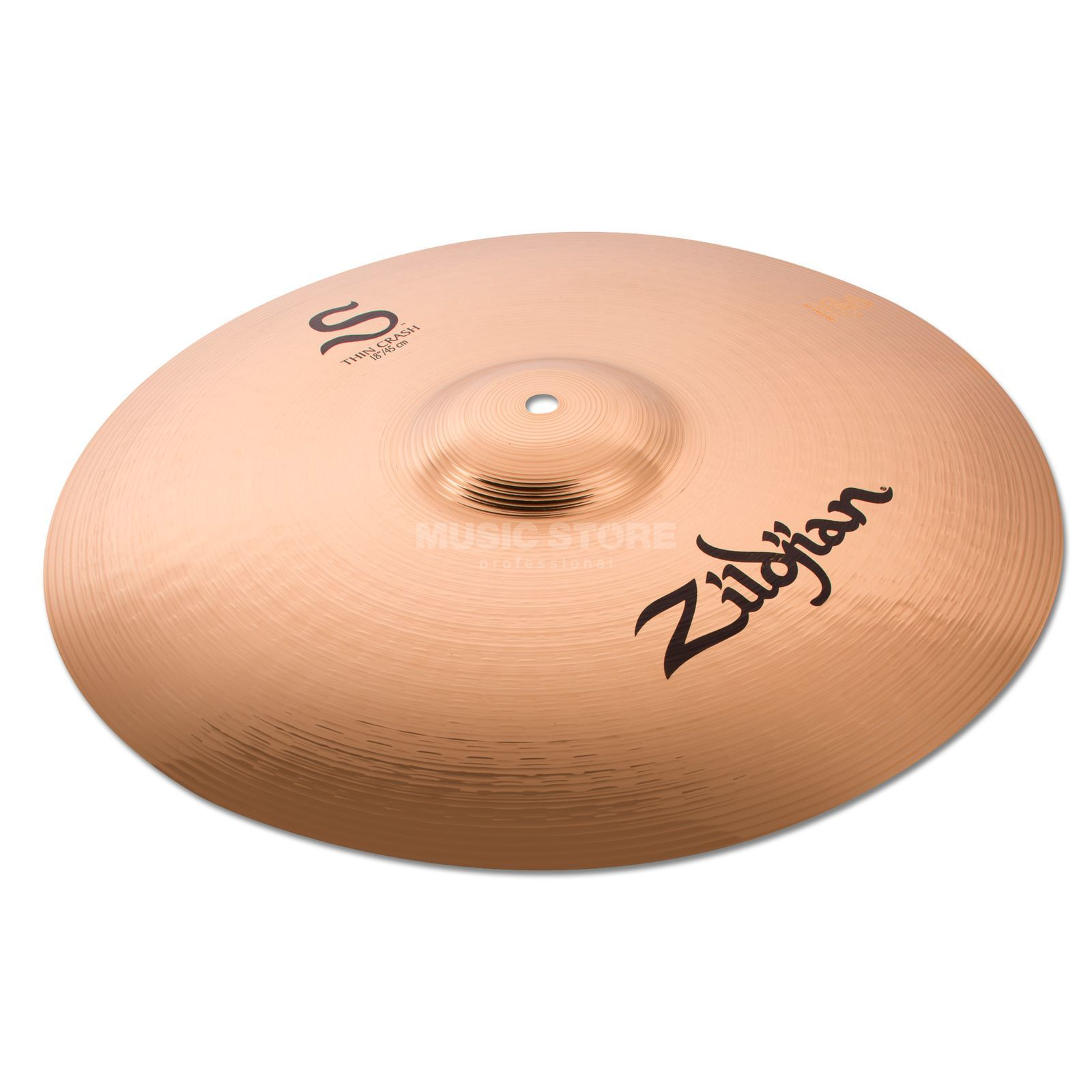 "Zildjian S-Series Thin Crash 18"" Brilliant Produktbillede"