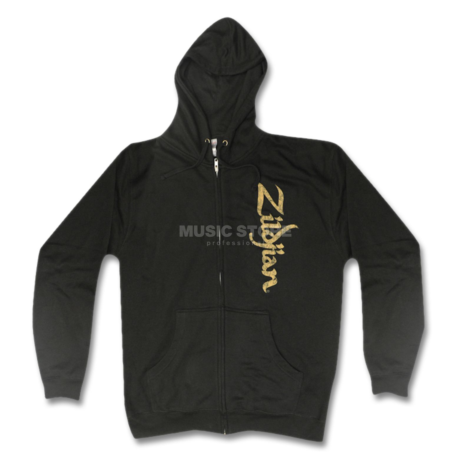 Zildjian Sweat-Kapuzenjacke Vertical Logo Black, Extra Large Product Image