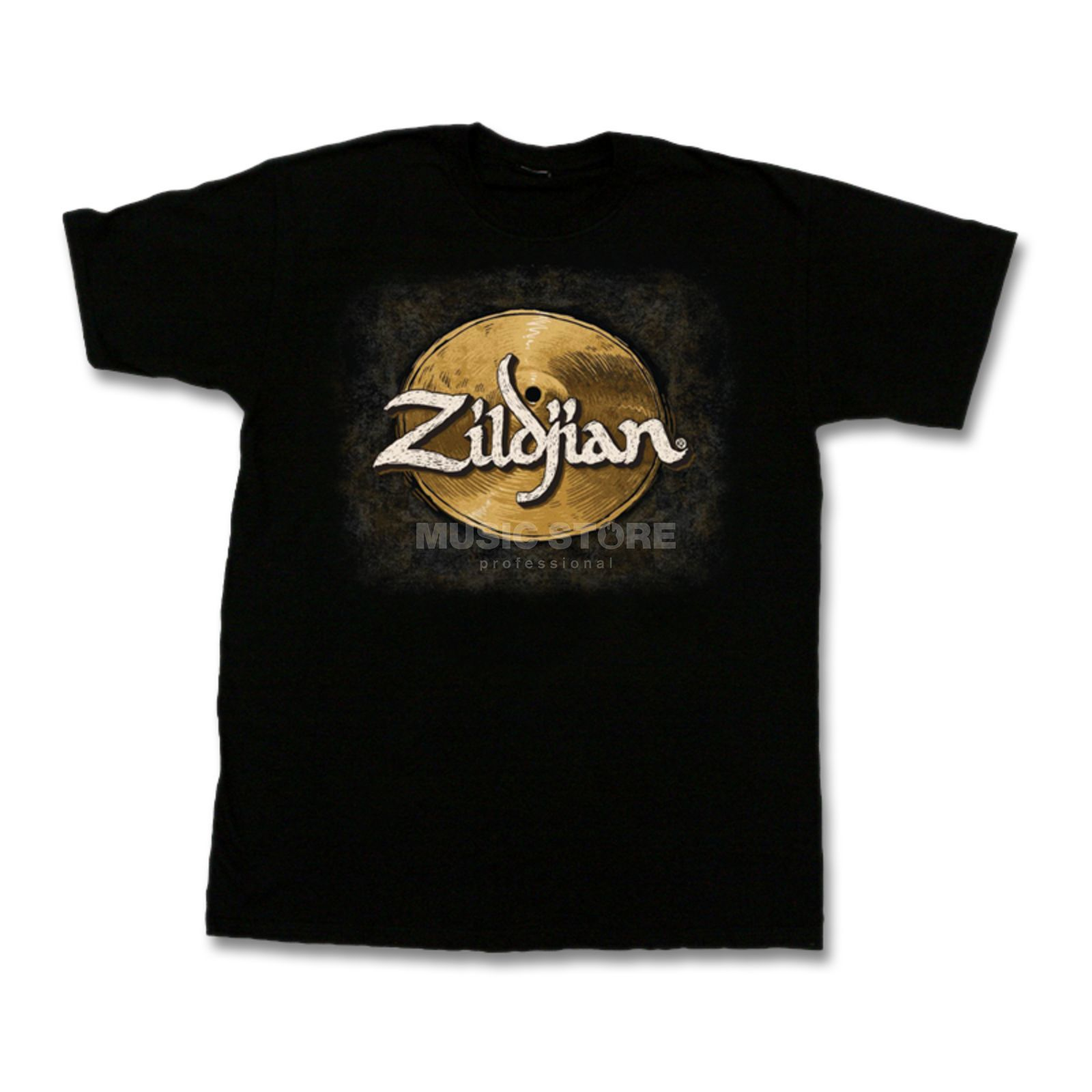 Zildjian T-Shirt Hand-Drawn Black, Large Product Image