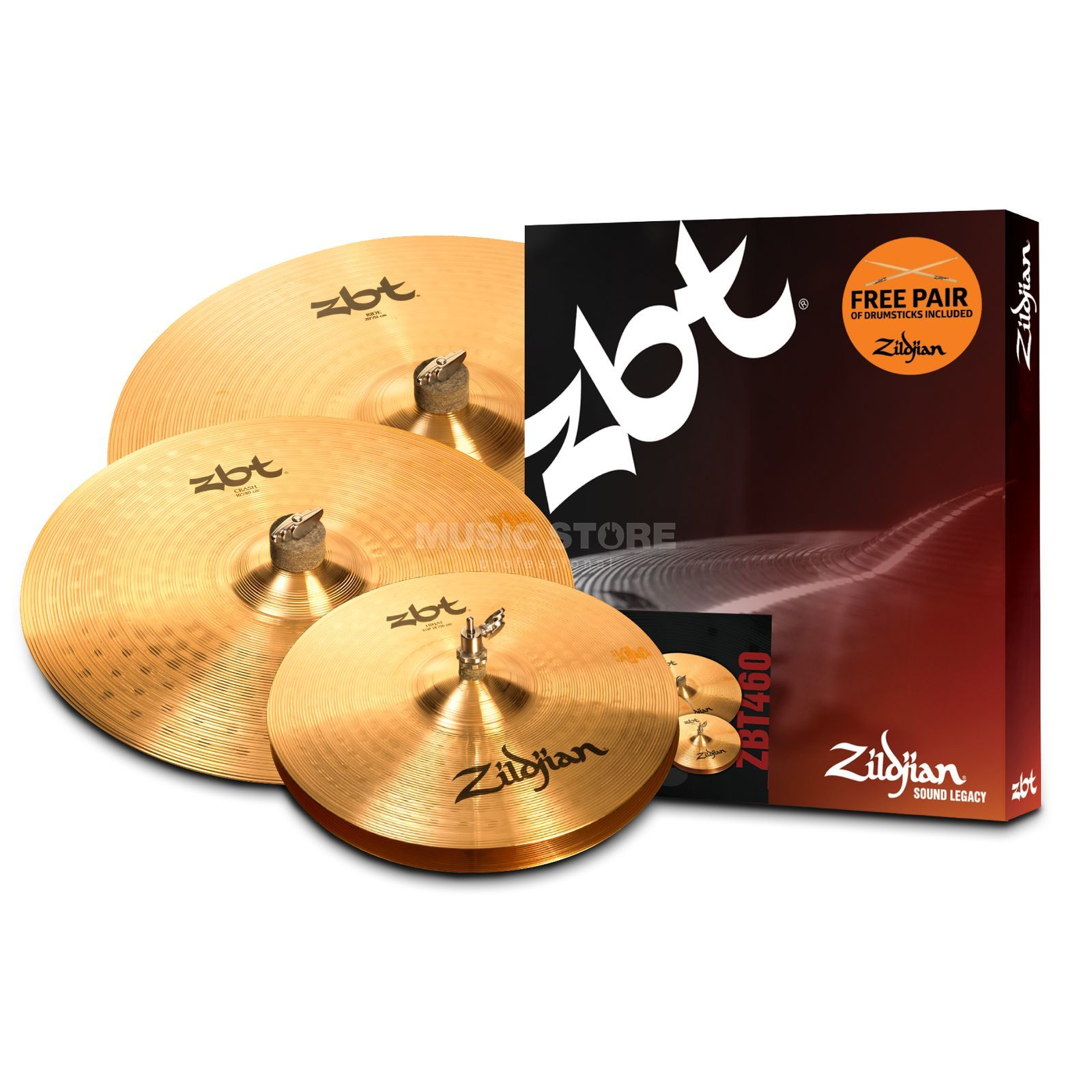 "Zildjian ZBT Box Set incl. Sticks, 14"" HH, 16"" CR, 20"" R Produktbillede"