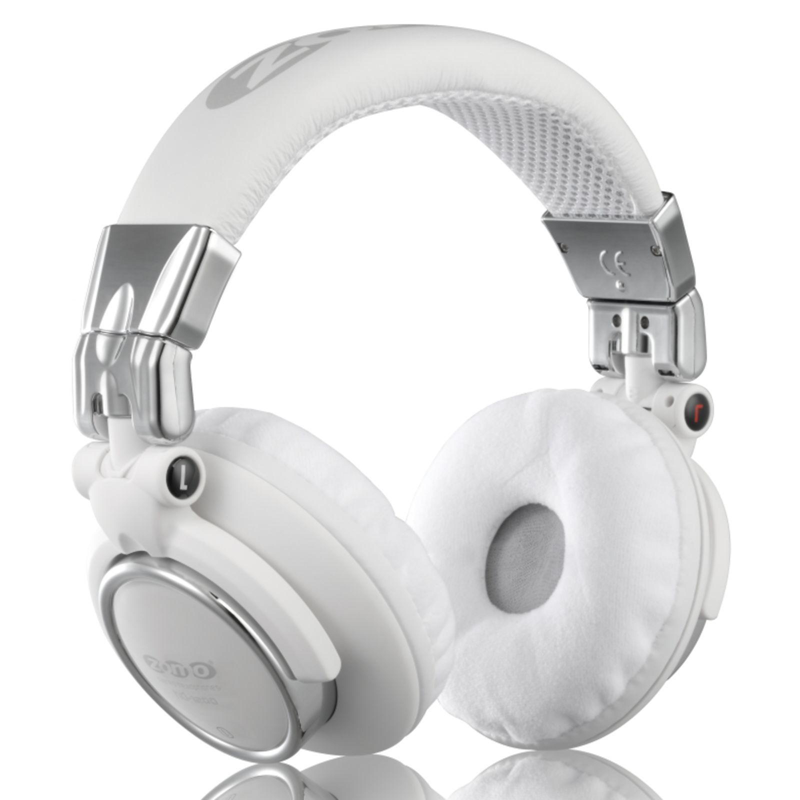 Zomo HD-1200 White Chrome Stereo Headphones Produktbild
