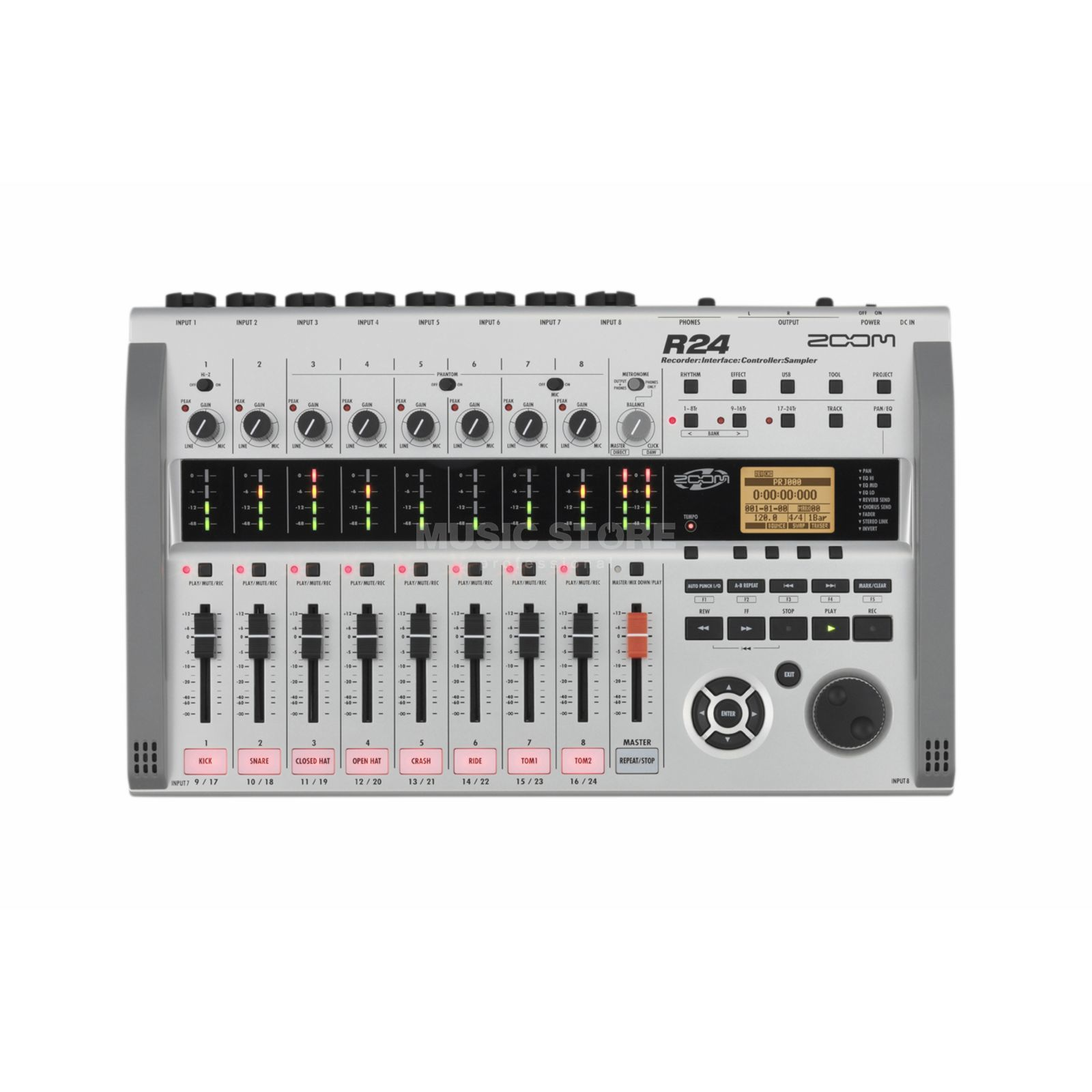 Zoom R24 Digital Recorder + Interface,Controller,Sampler Produktbillede