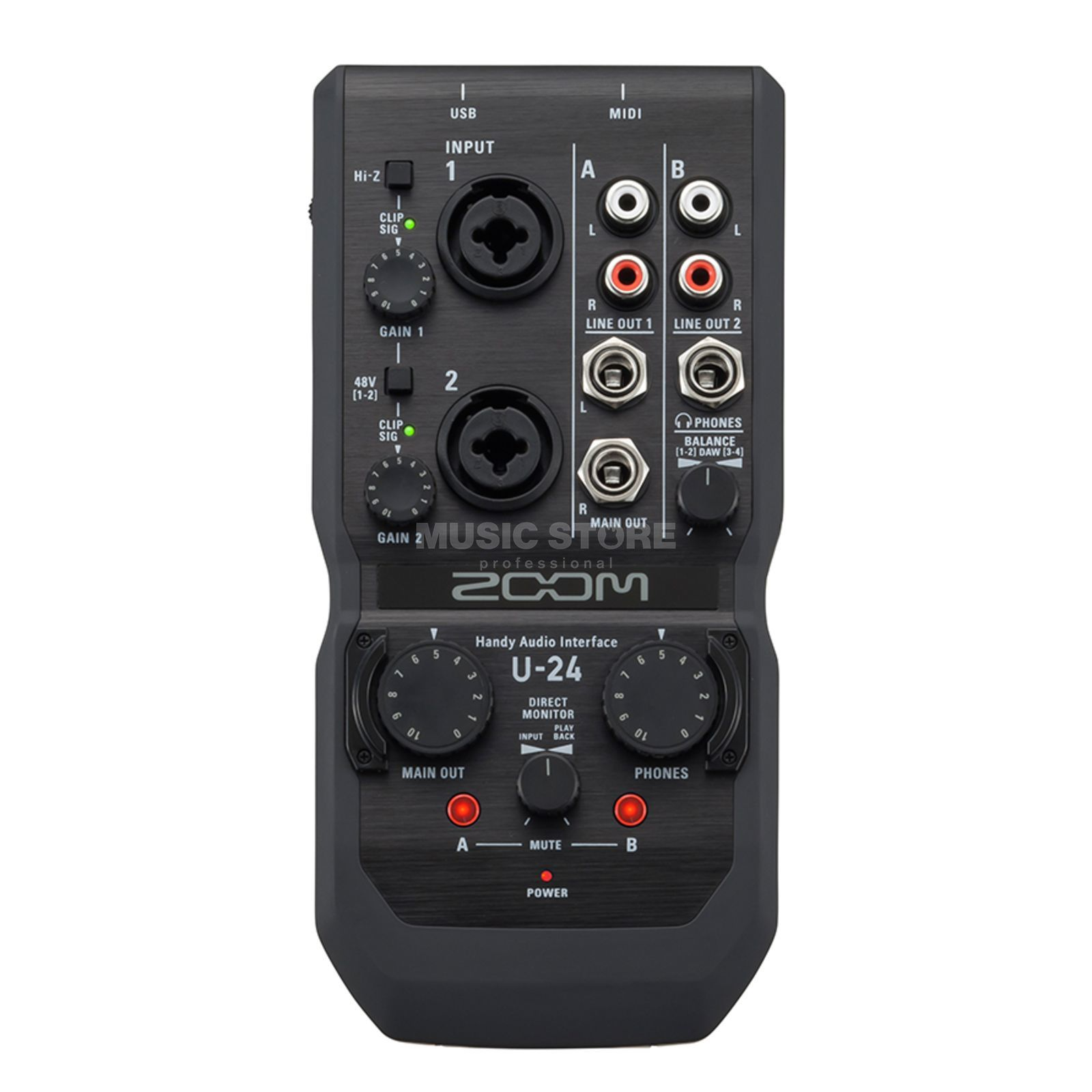 Zoom U-24 Handy Audio-Interface Product Image