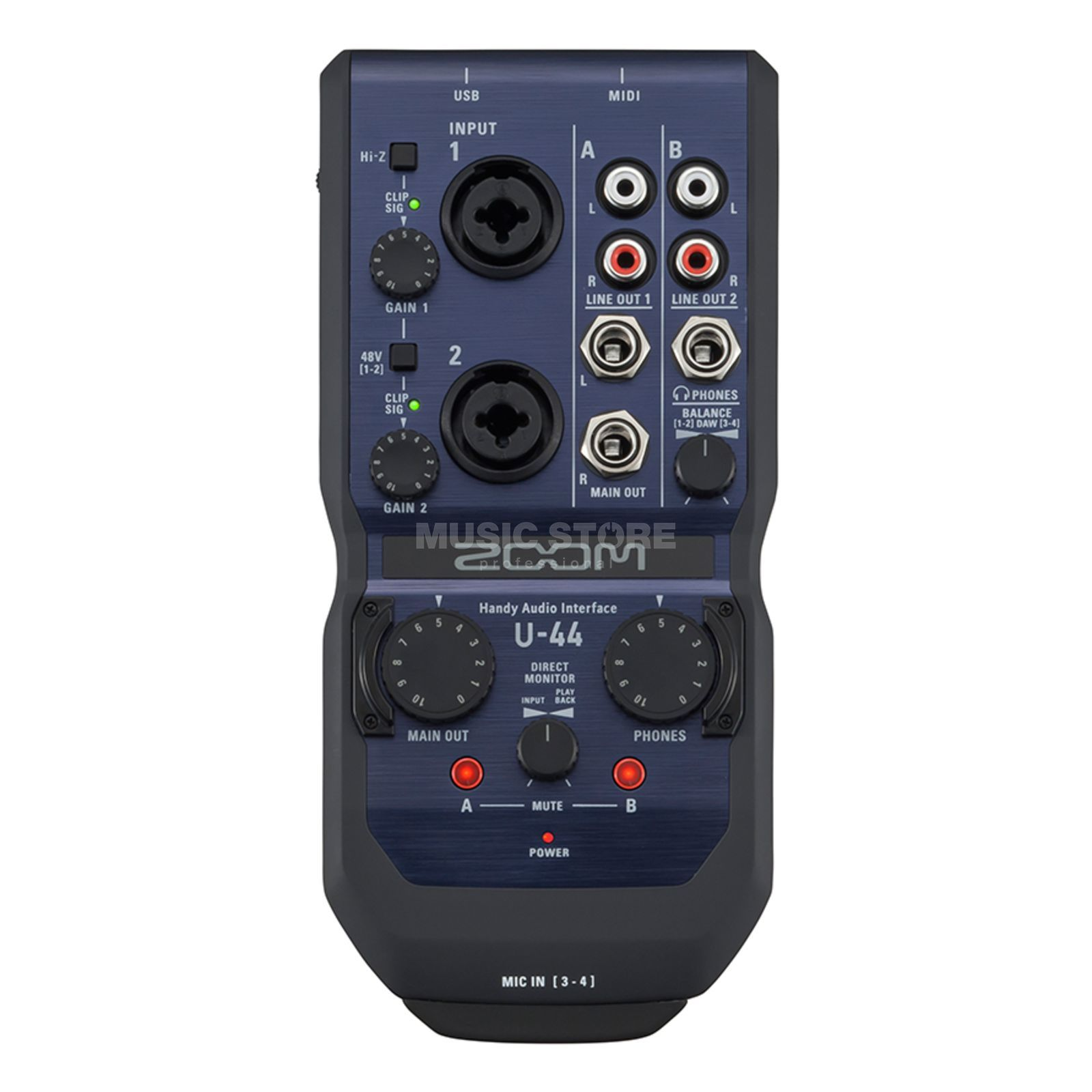 Zoom U-44 Handy Audio-Interface Product Image