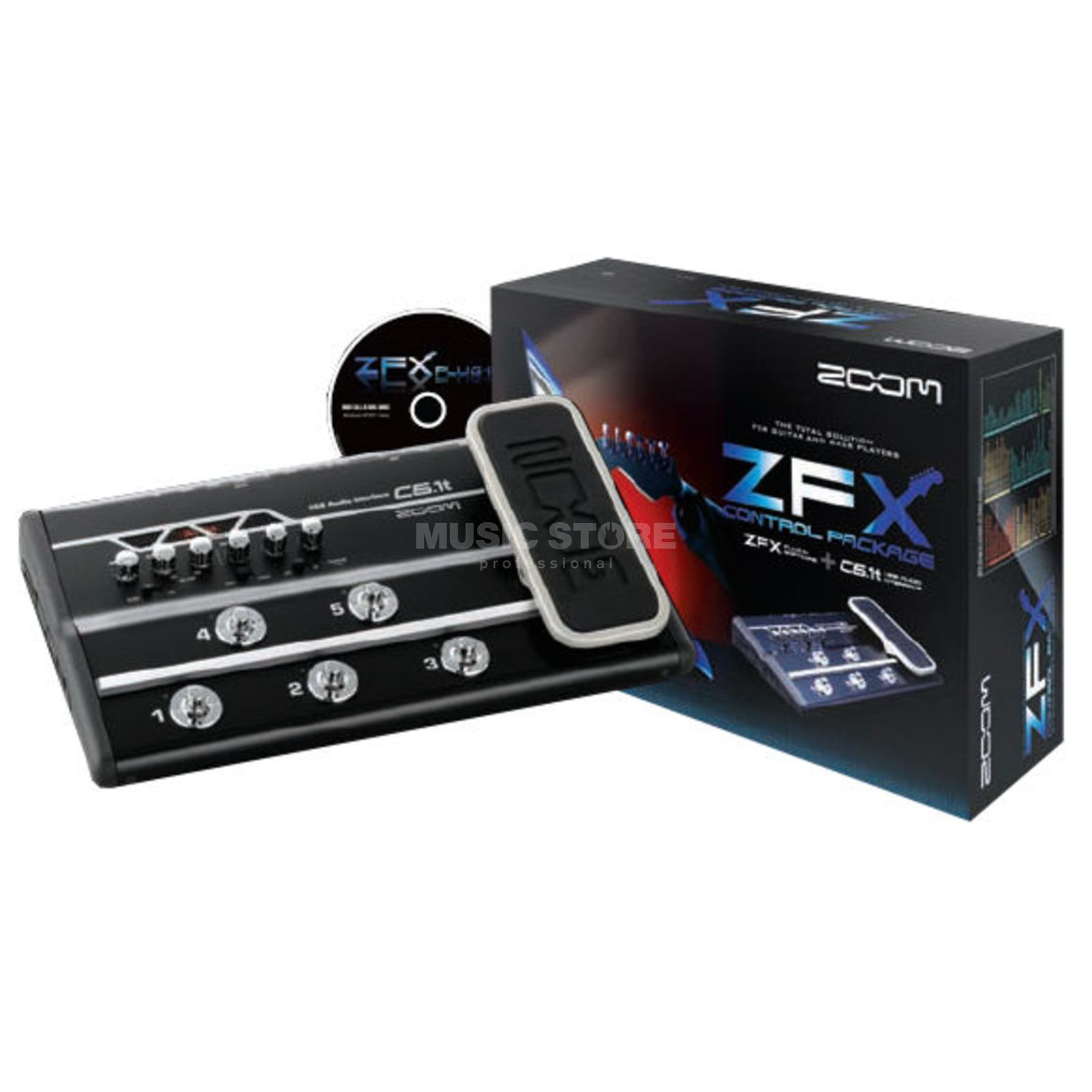 Zoom ZFX Control Pack USB Audio Interface Footswitch Produktbild