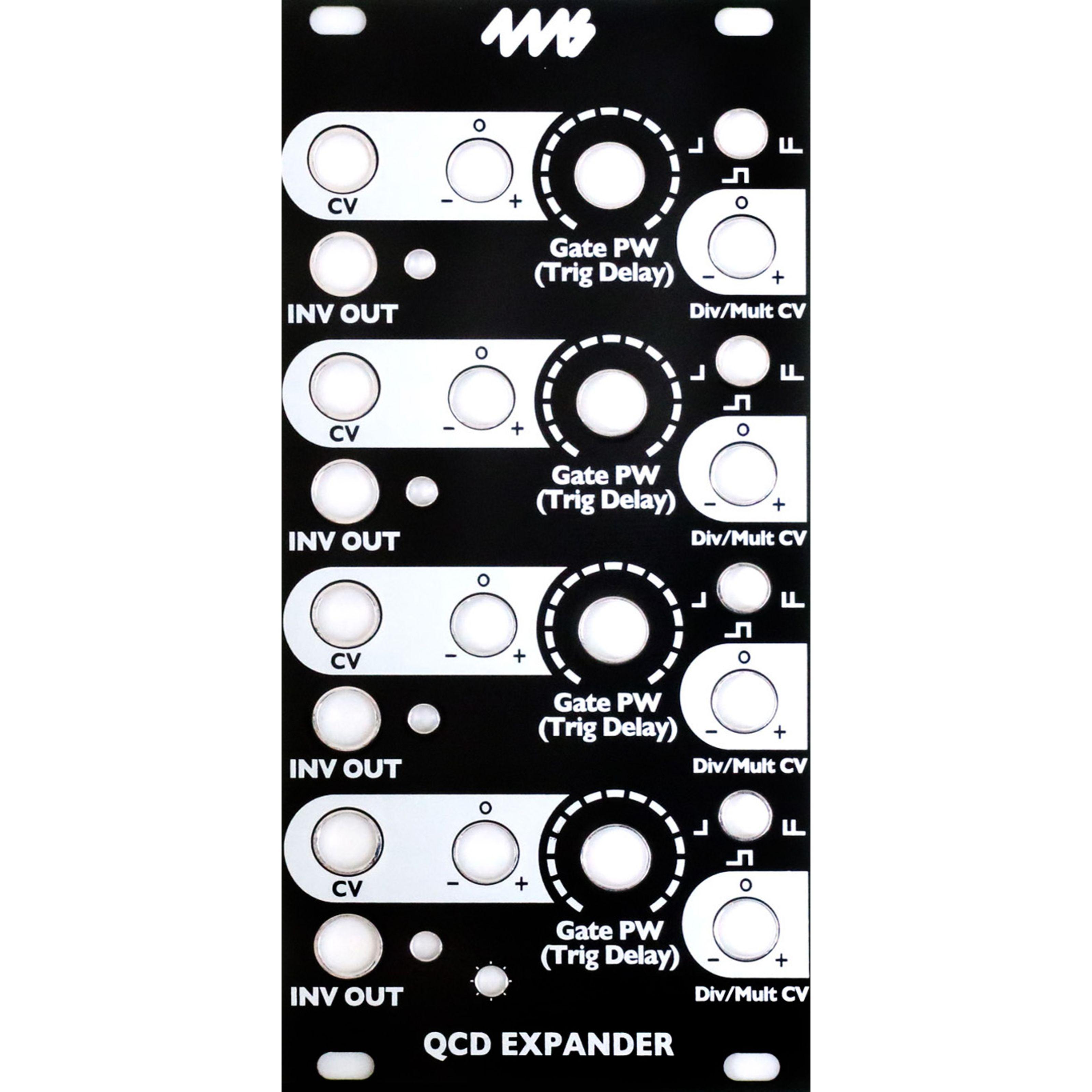 4ms - QCD Expander Black Panel QCD Exp BP
