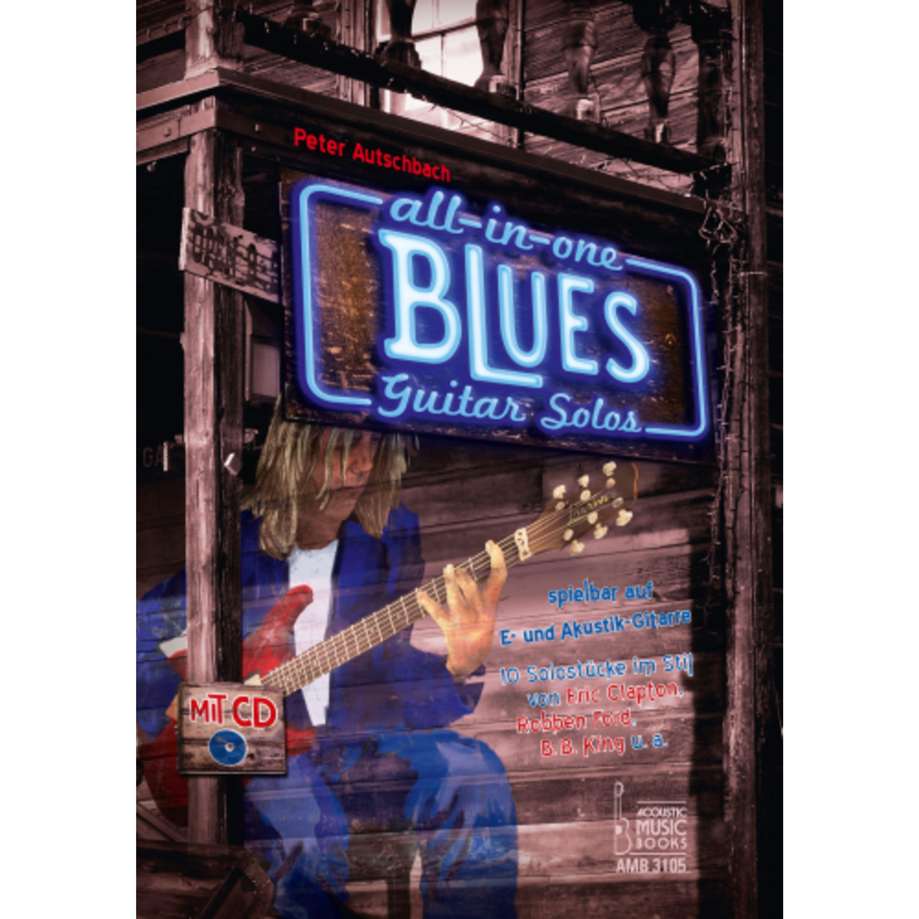 Acoustic Music Books - All in One Blues Guitar Solos für E- und Akustik-Gitarre AMB 3105