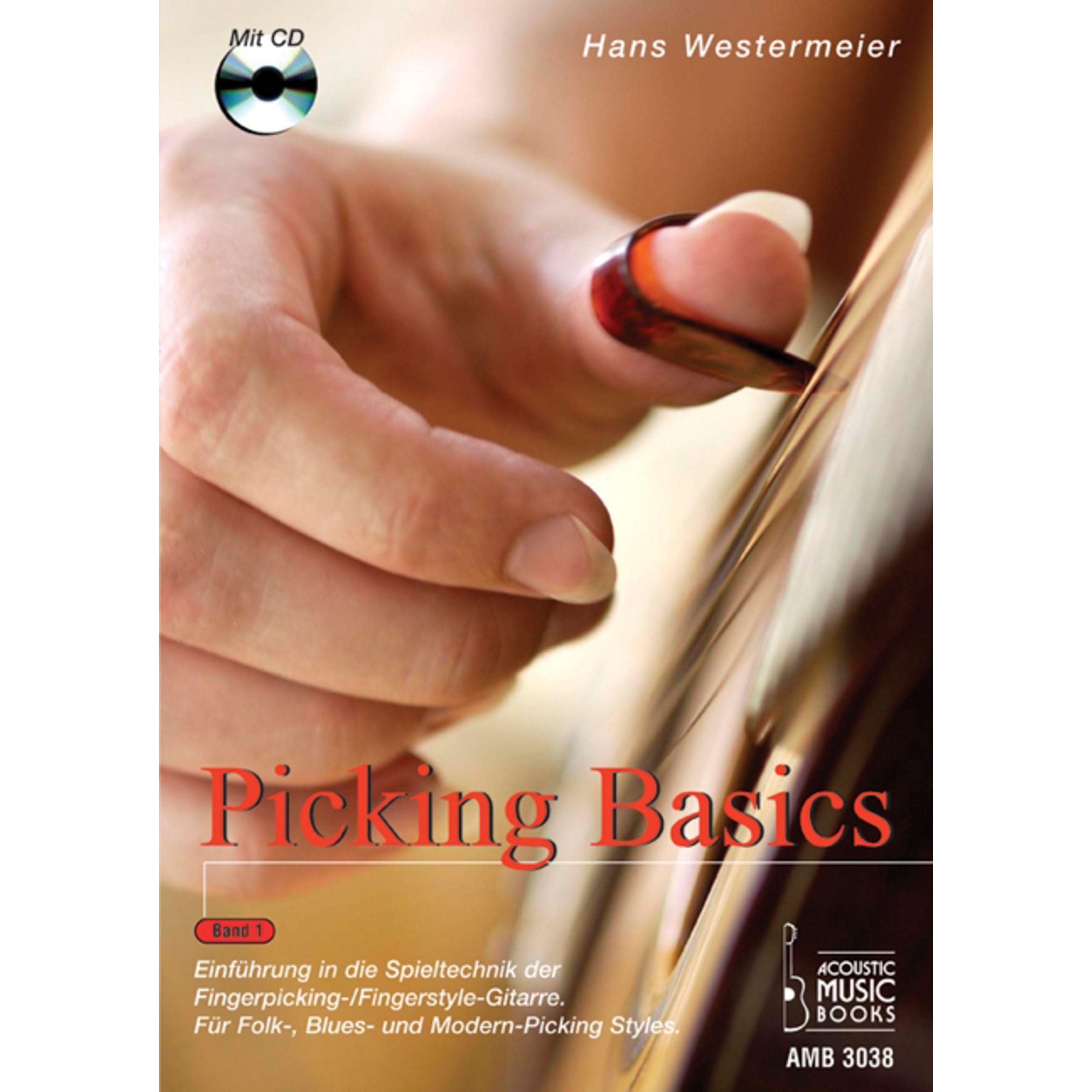 Acoustic Music Books - Picking Basics 1 für Gitarre Hans Westermeier, Buch/CD AMB 3038