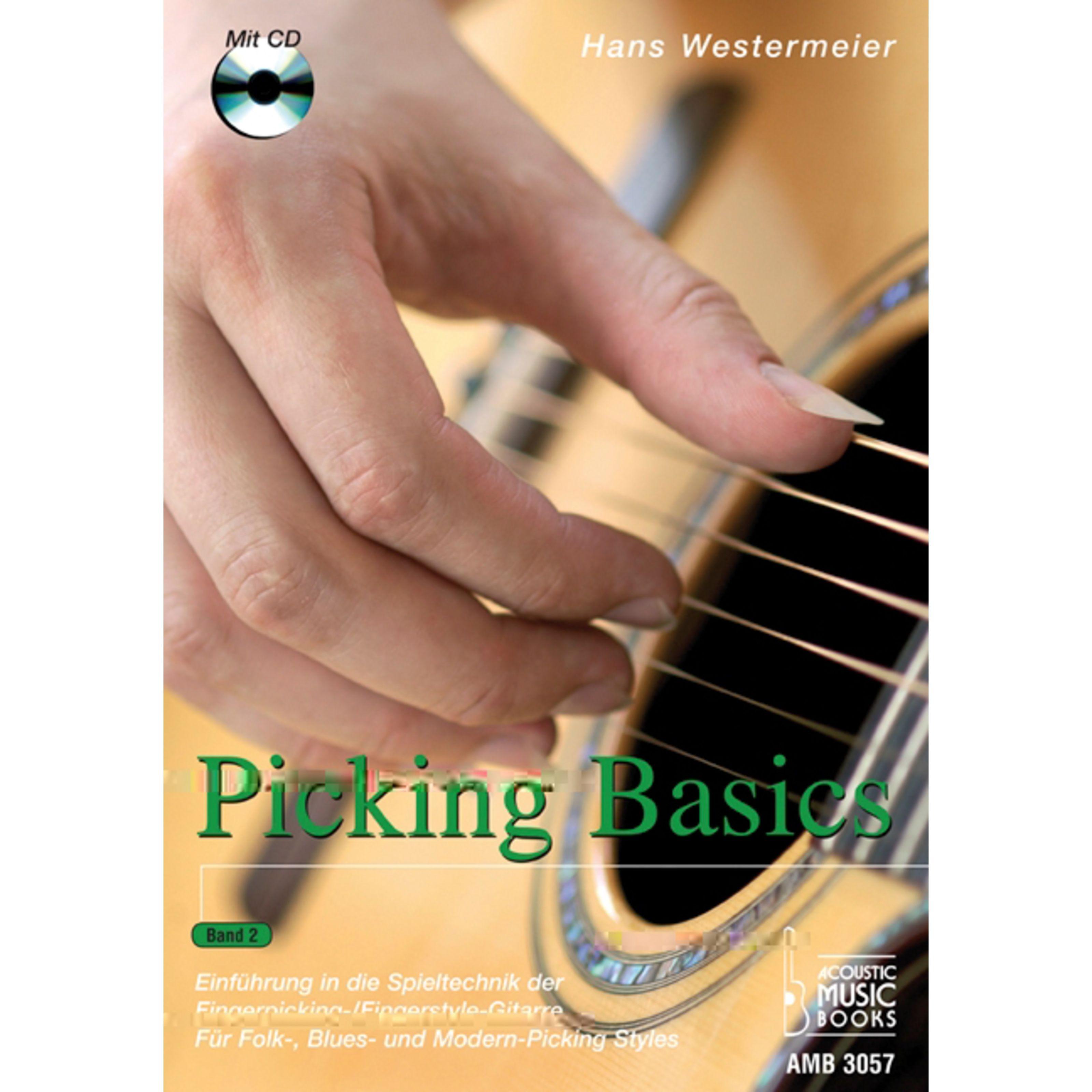 Acoustic Music Books - Picking Basics 2 für Gitarre Hans Westermeier, Buch/CD AMB 3057