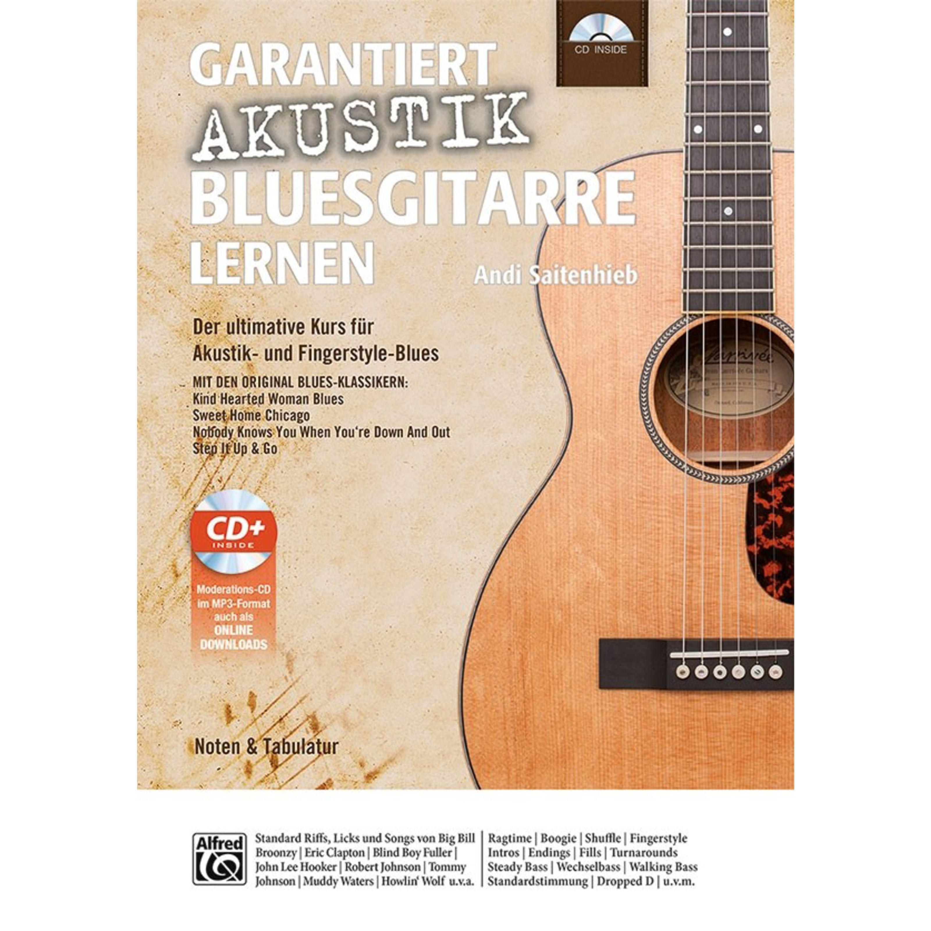 Alfred Music - Garantiert Akustik-Bluesgit. lernen Andi Saitenhieb
