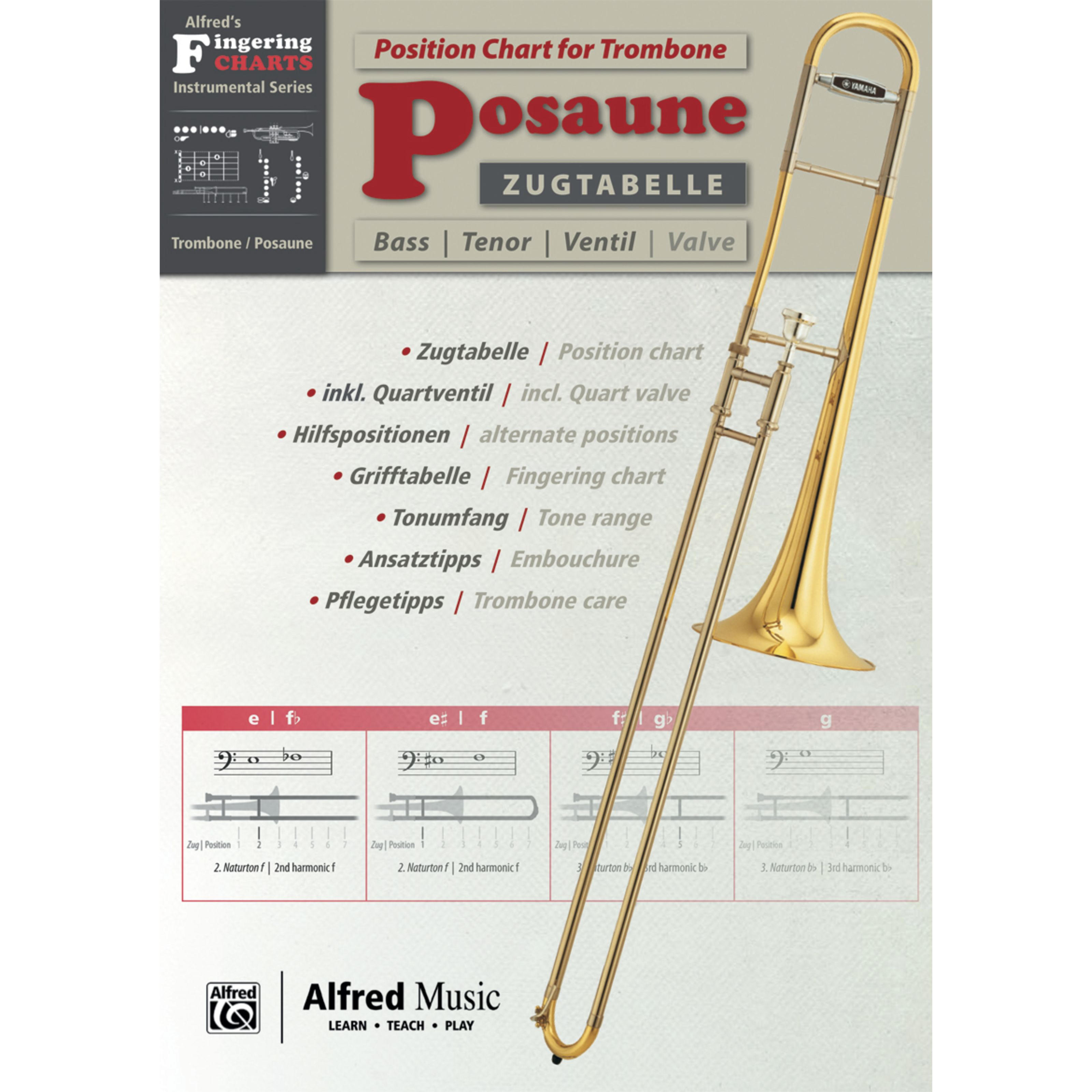 Alfred Music - Grifftabelle Posaune 00-20231G