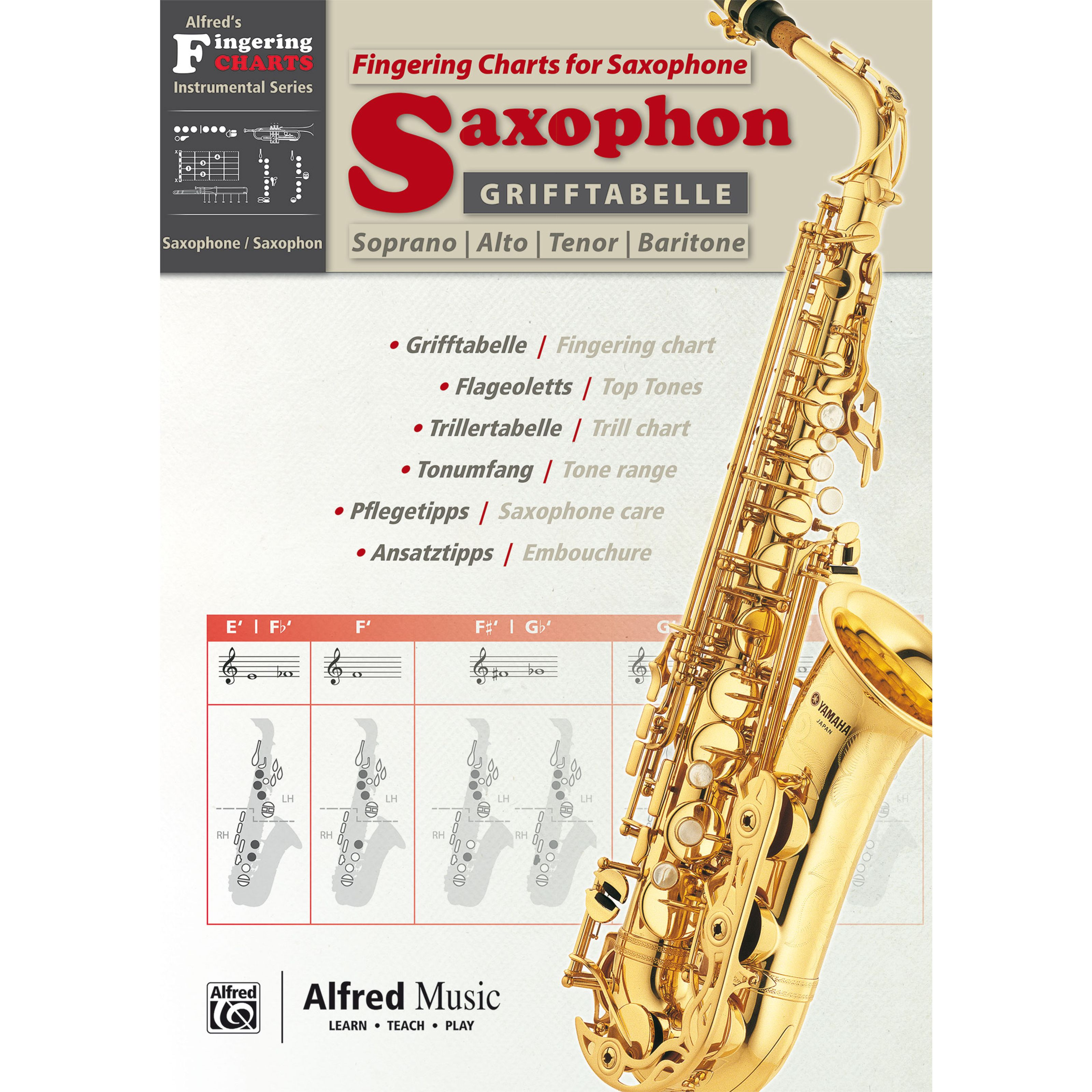 Alfred Music - Grifftabelle Saxophon 00-20229G