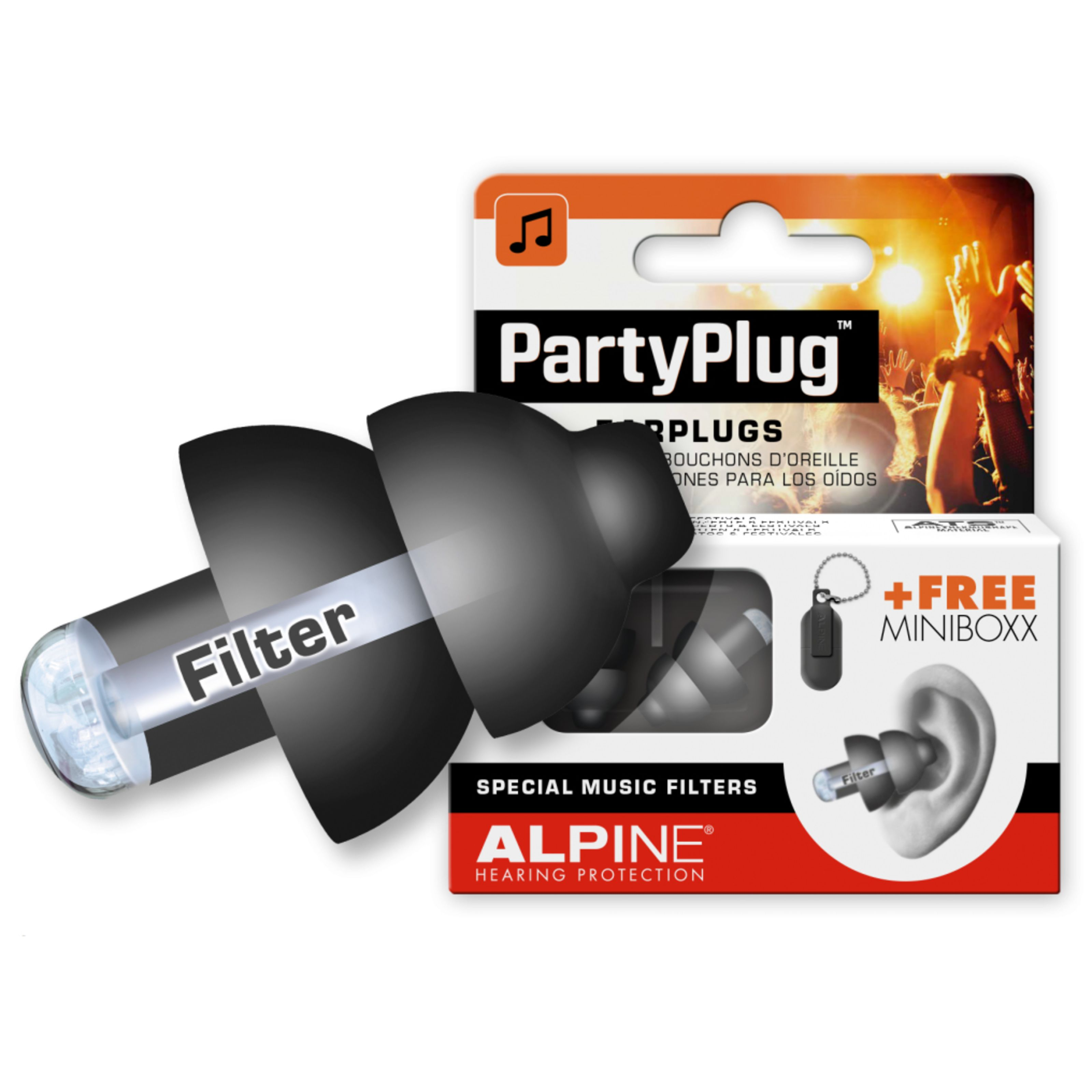 Alpine - PartyPlug Gehörschutz, Black 111.21.652