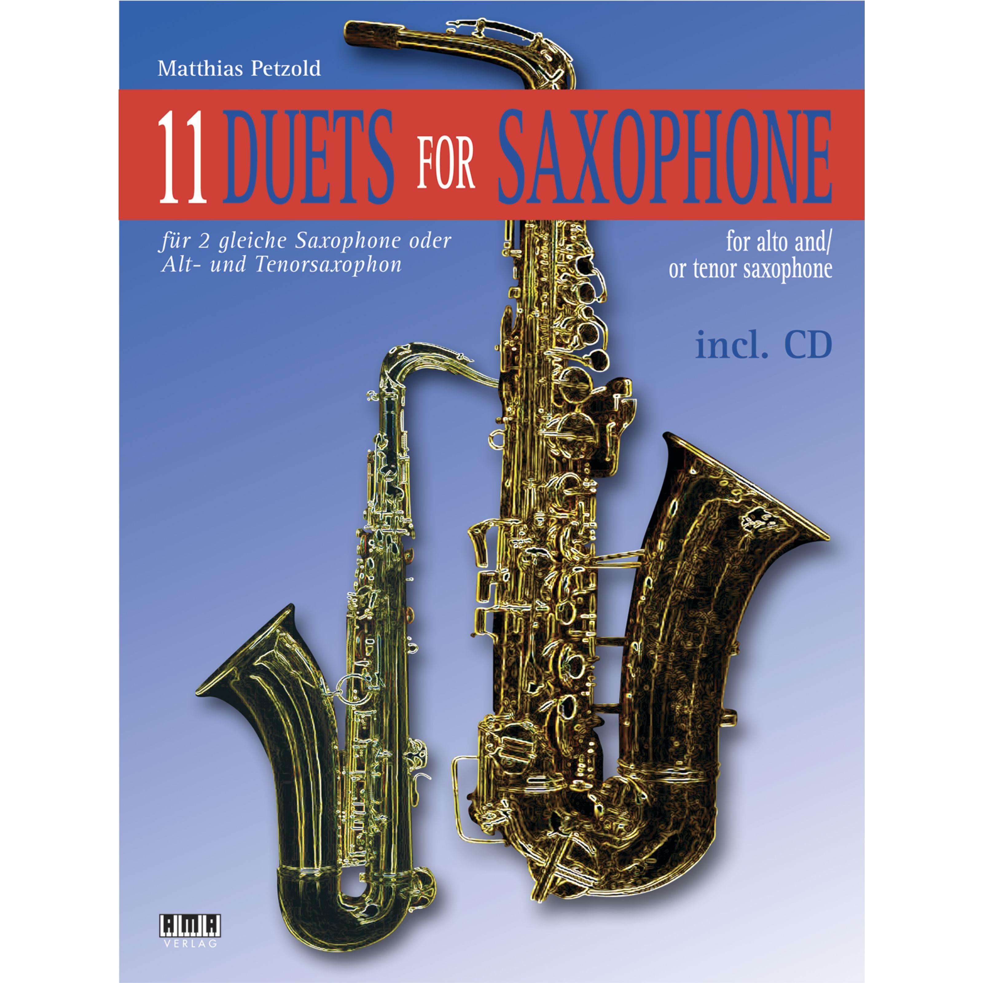 AMA Verlag - 11 Duets For Saxophone Matthias Petzold 610379