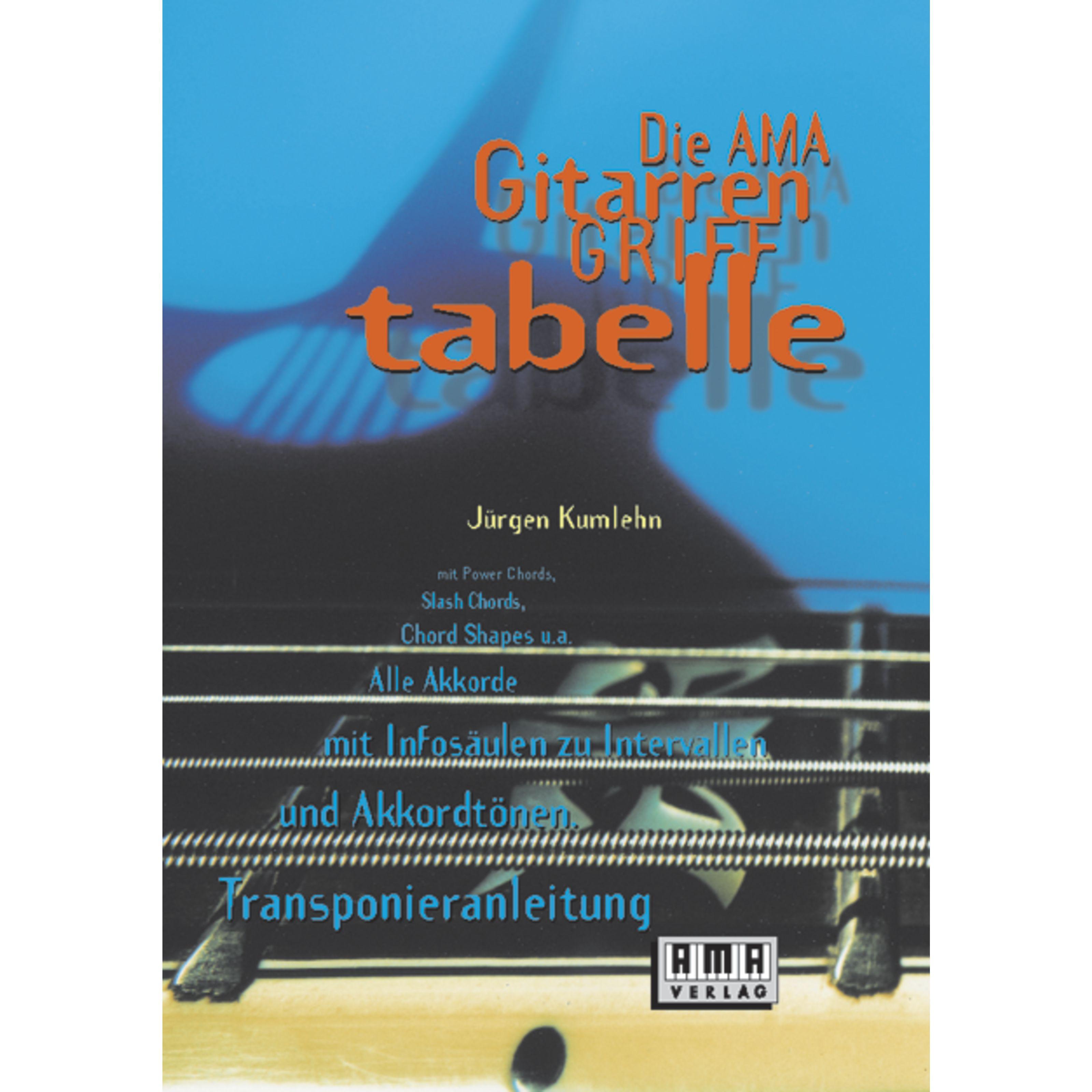 AMA Verlag - Die Ama-Gitarren-Grifftabelle 610109