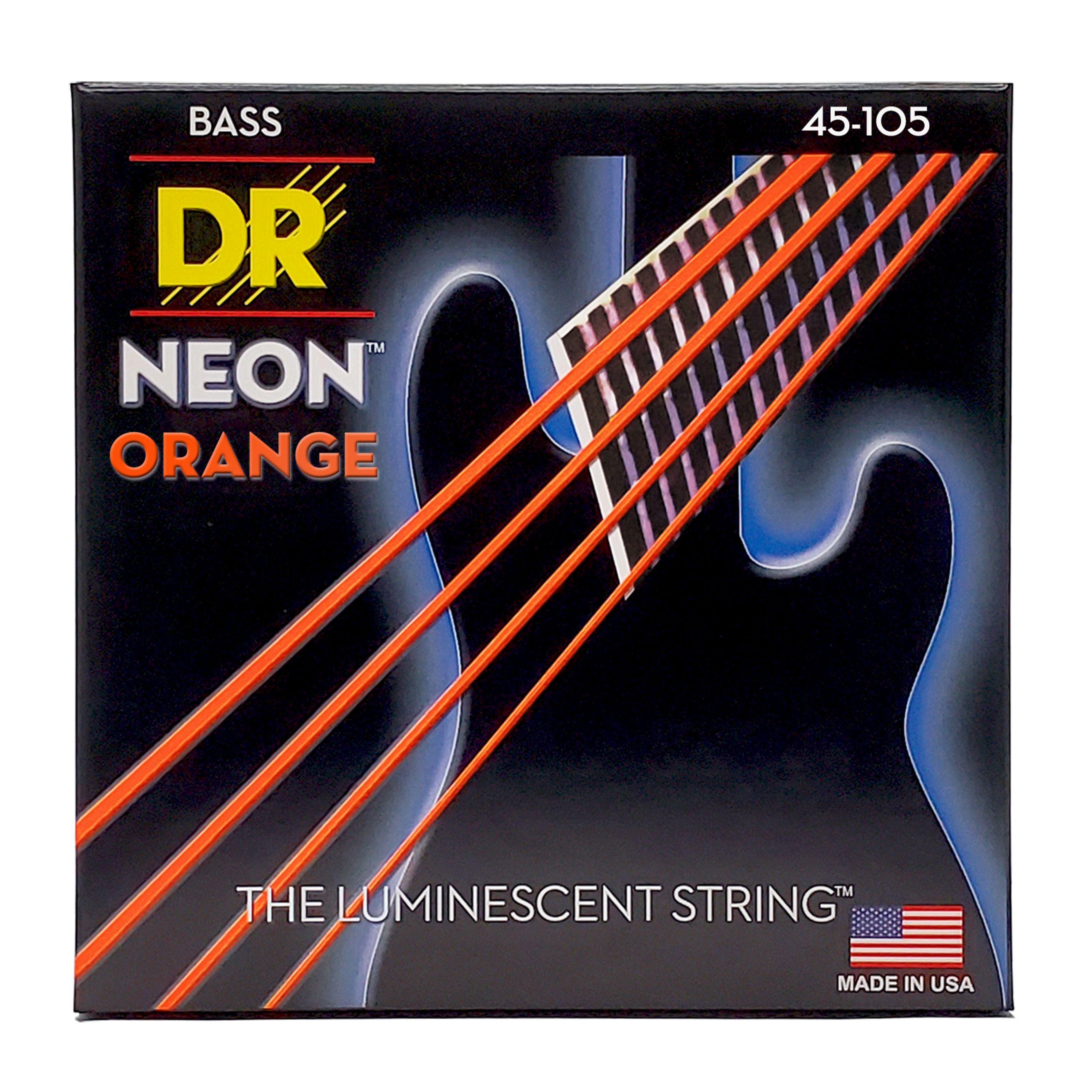 DR - 4er Bass 45-105 Hi-Def Neon Orange Neon NOB-45 DR B NEON NOB-45
