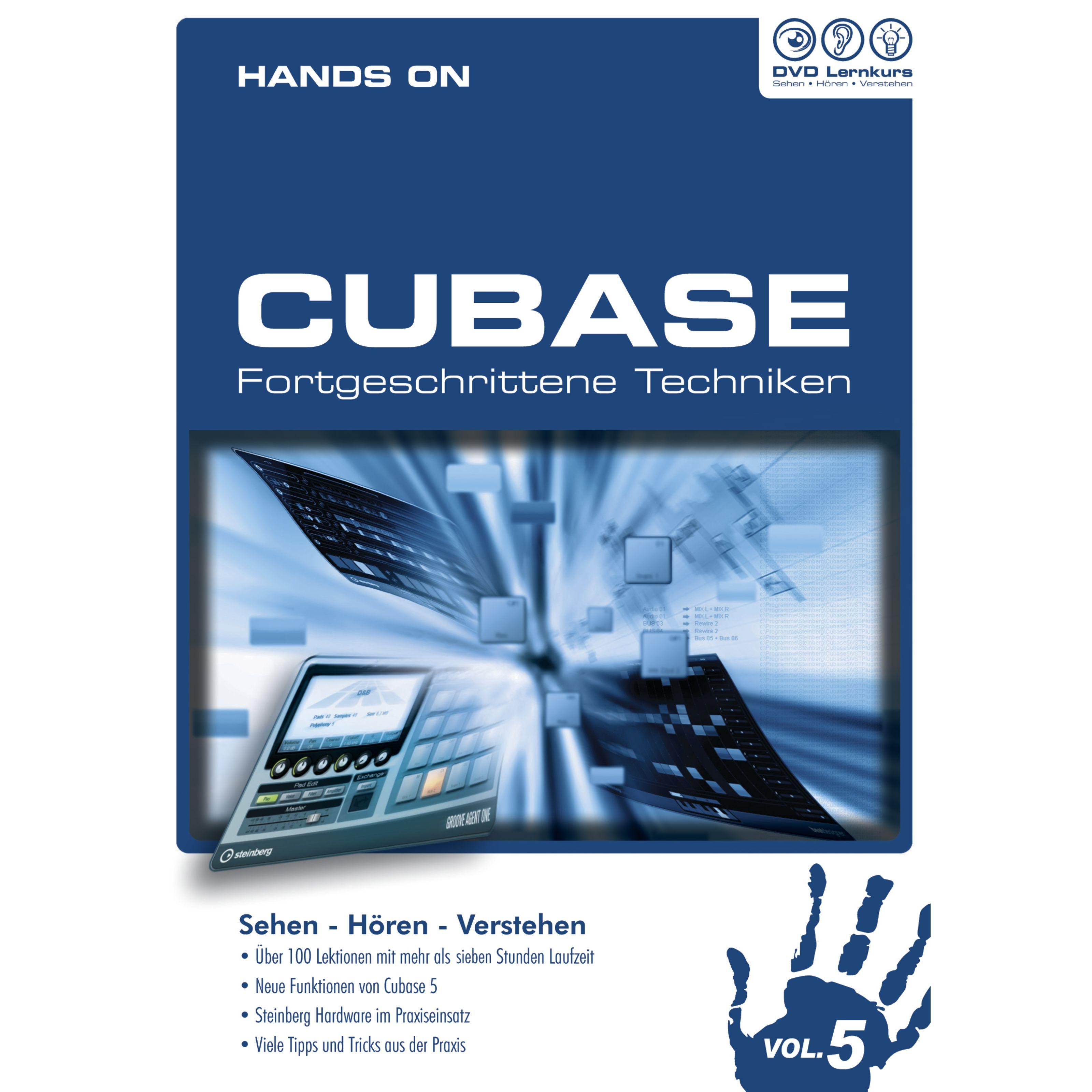 DVD Lernkurs - Hands On Cubase Vol.5 Fortgeschrittene Techniken