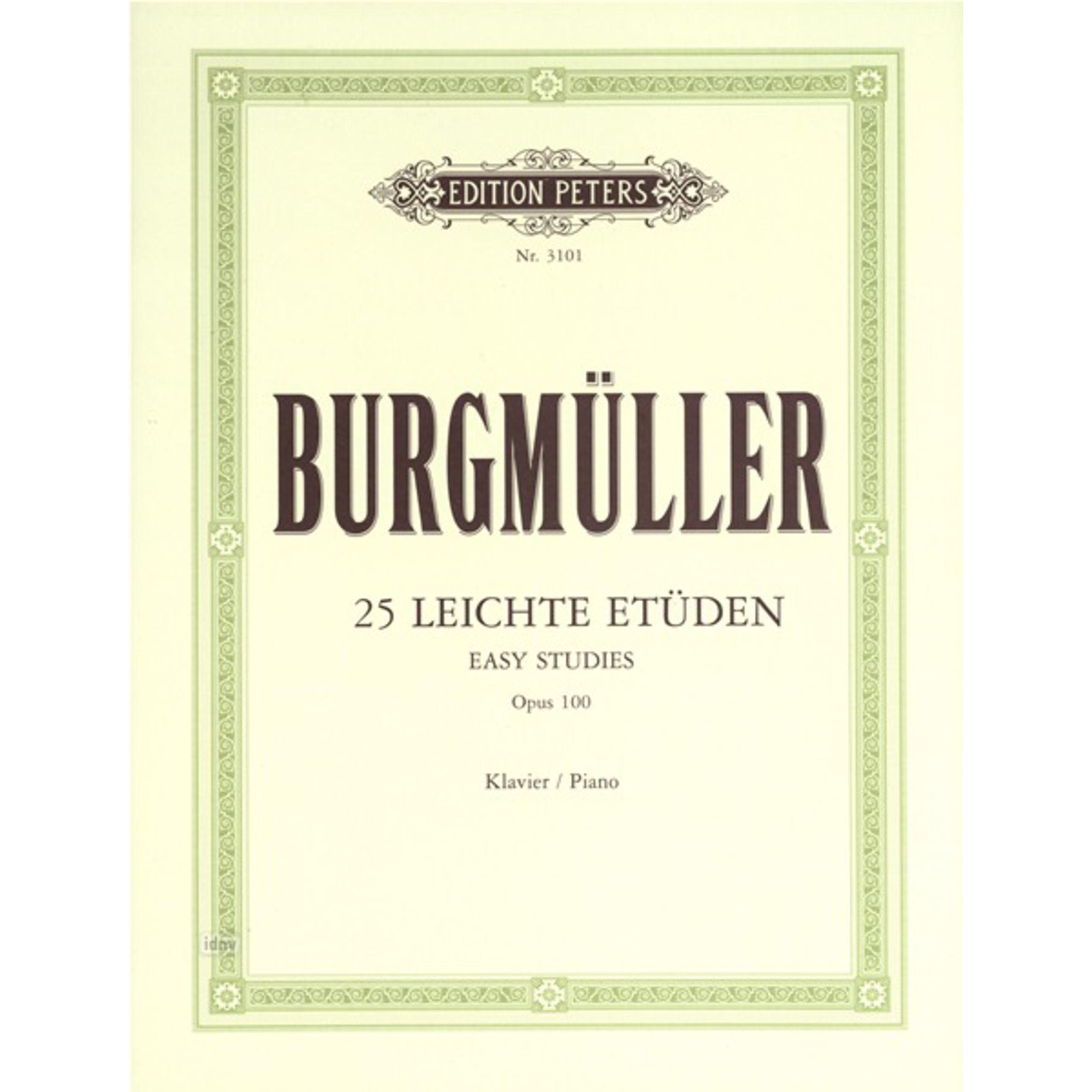 Edition Peters - Burgmüller: Etüden, op. 100 Klavier EP 3101