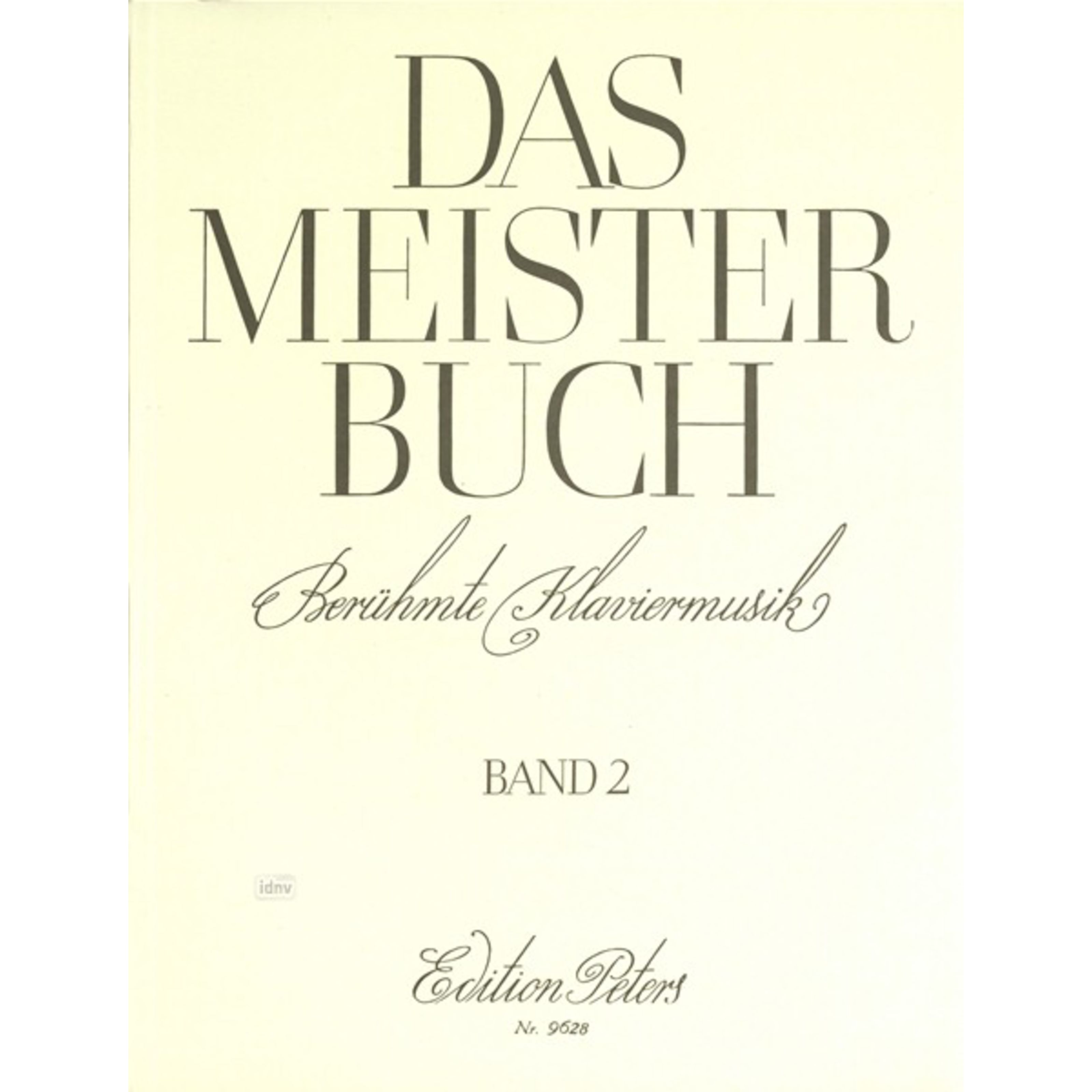 Edition Peters - Meisterbuch 2 Klavier EP 9628