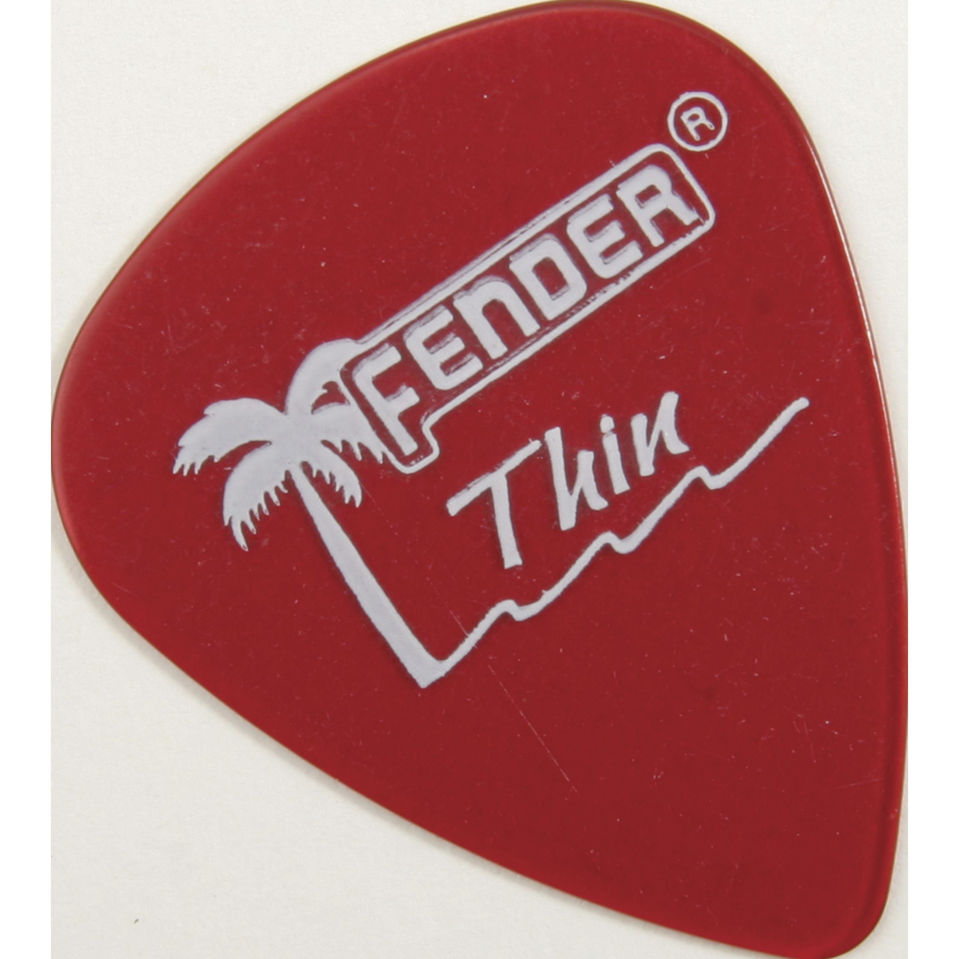 Fender - Picks 351 California CAR thin 12er Set California Clear