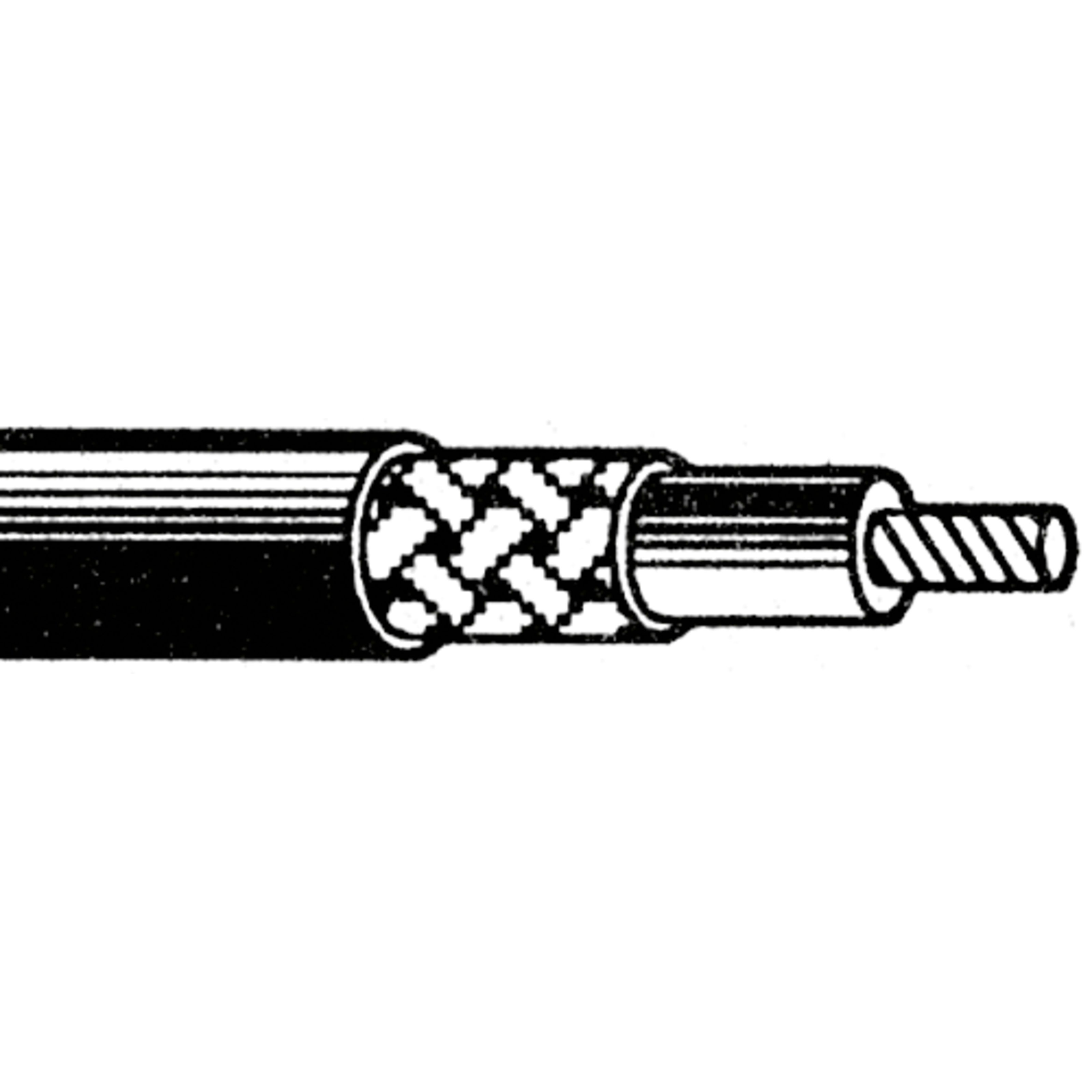 Göldo - Kabel koxial abgeschirmt 1 adrig, 1 Meter, schwarz EL90X