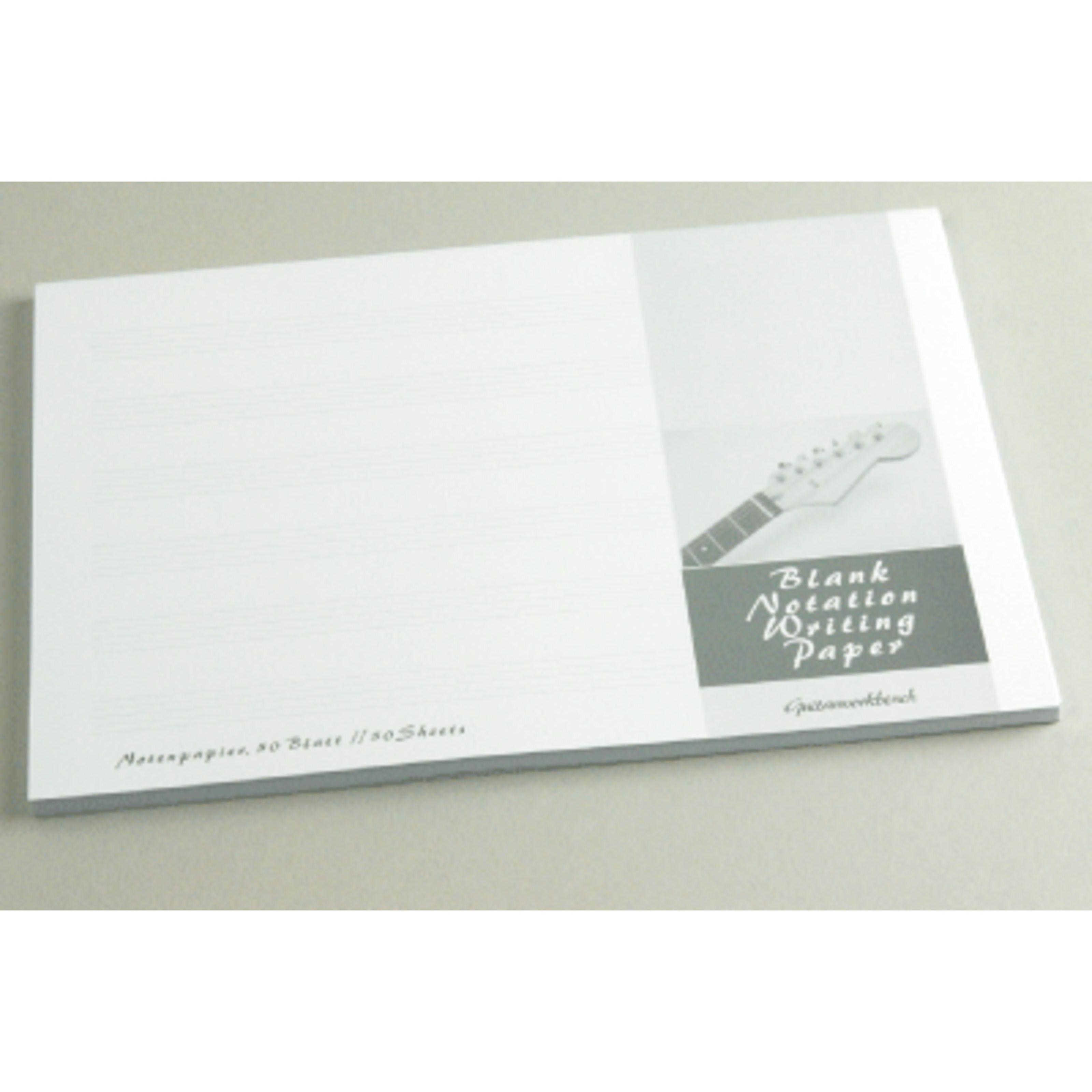 Guitarworkbench - Notenpapier-Block DIN A5 quer MB-04